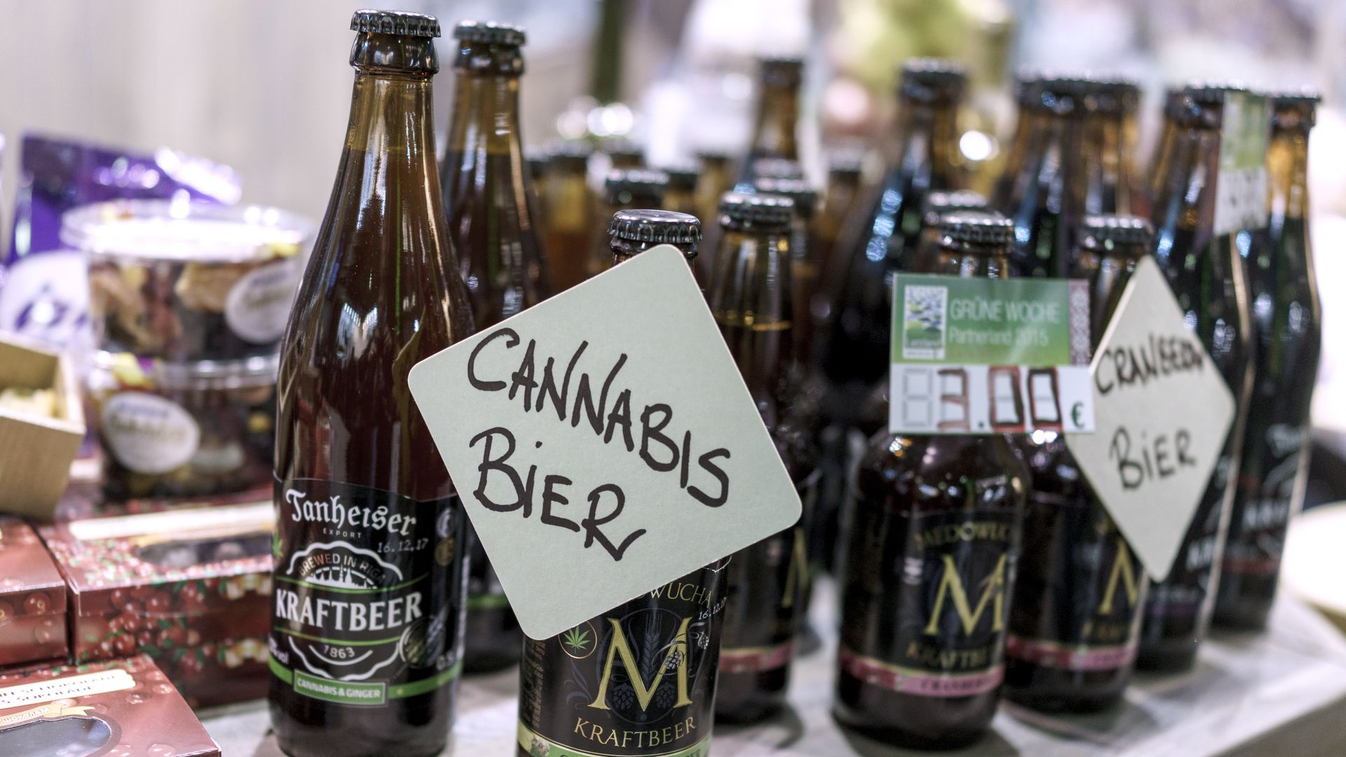 Cannabis beer bottles