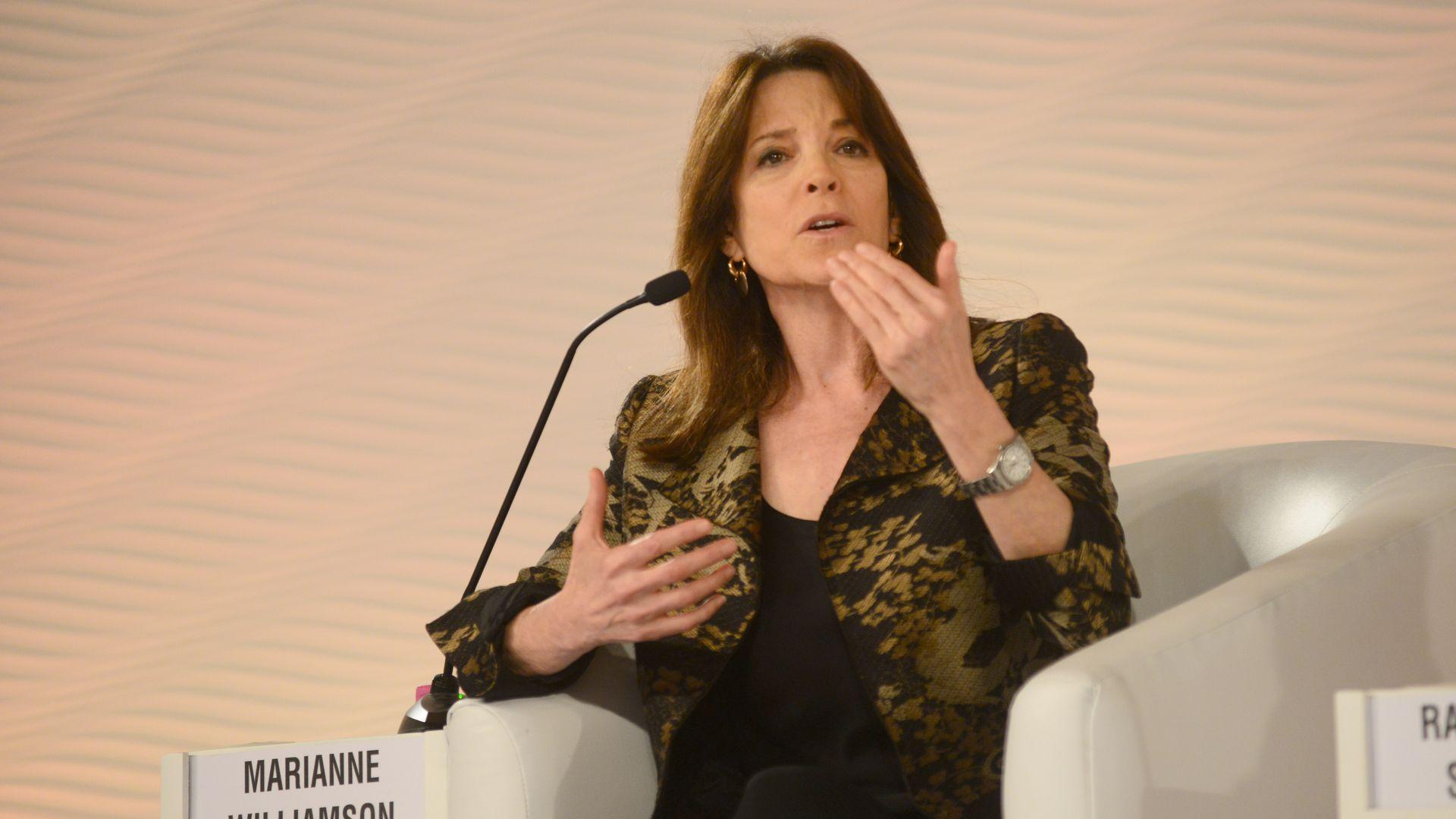 Marianne Williamson speaks