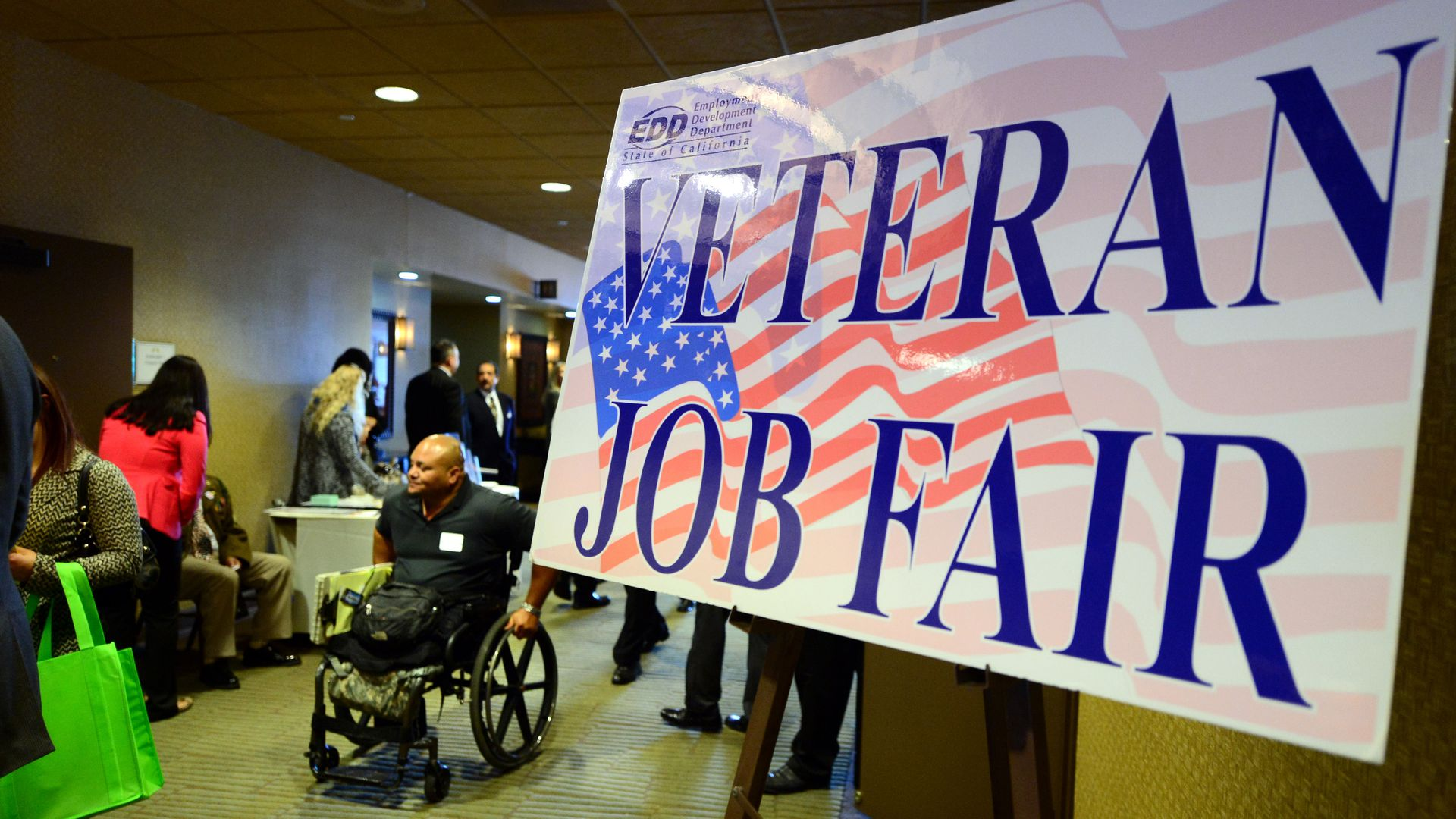 Veteran Job Fair Sign