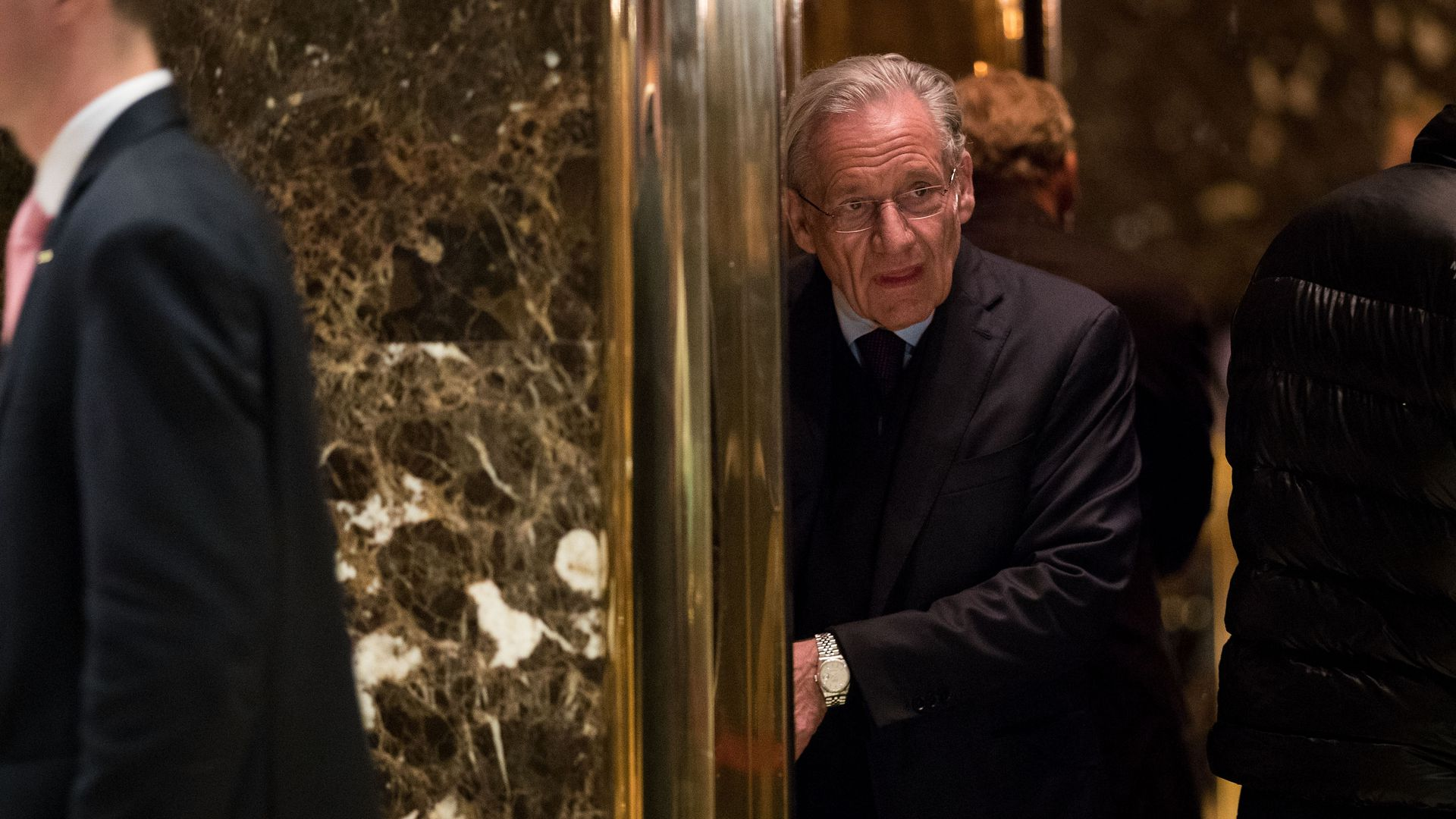 Journalist Bob Woodward at Trump Tower in January 2017. Photo: Drew Angerer/Getty Images