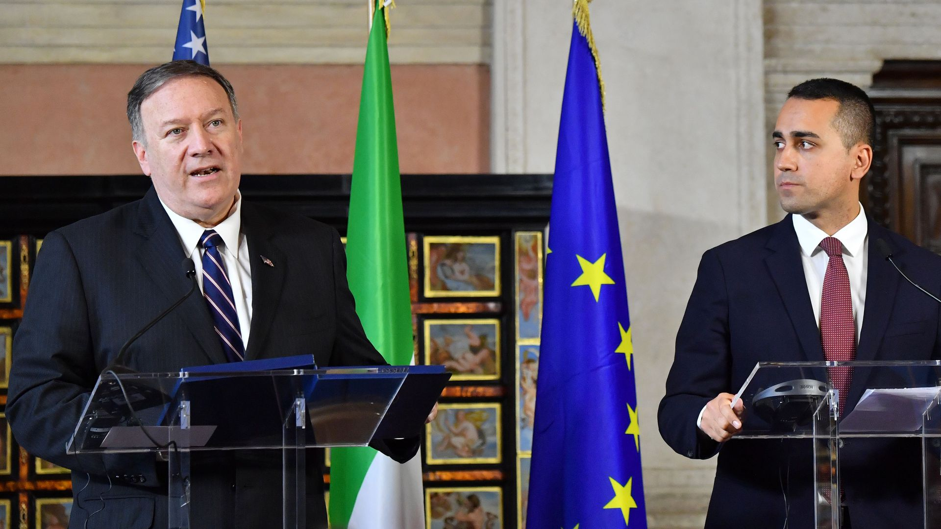 Mike Pompeo in Italy.
