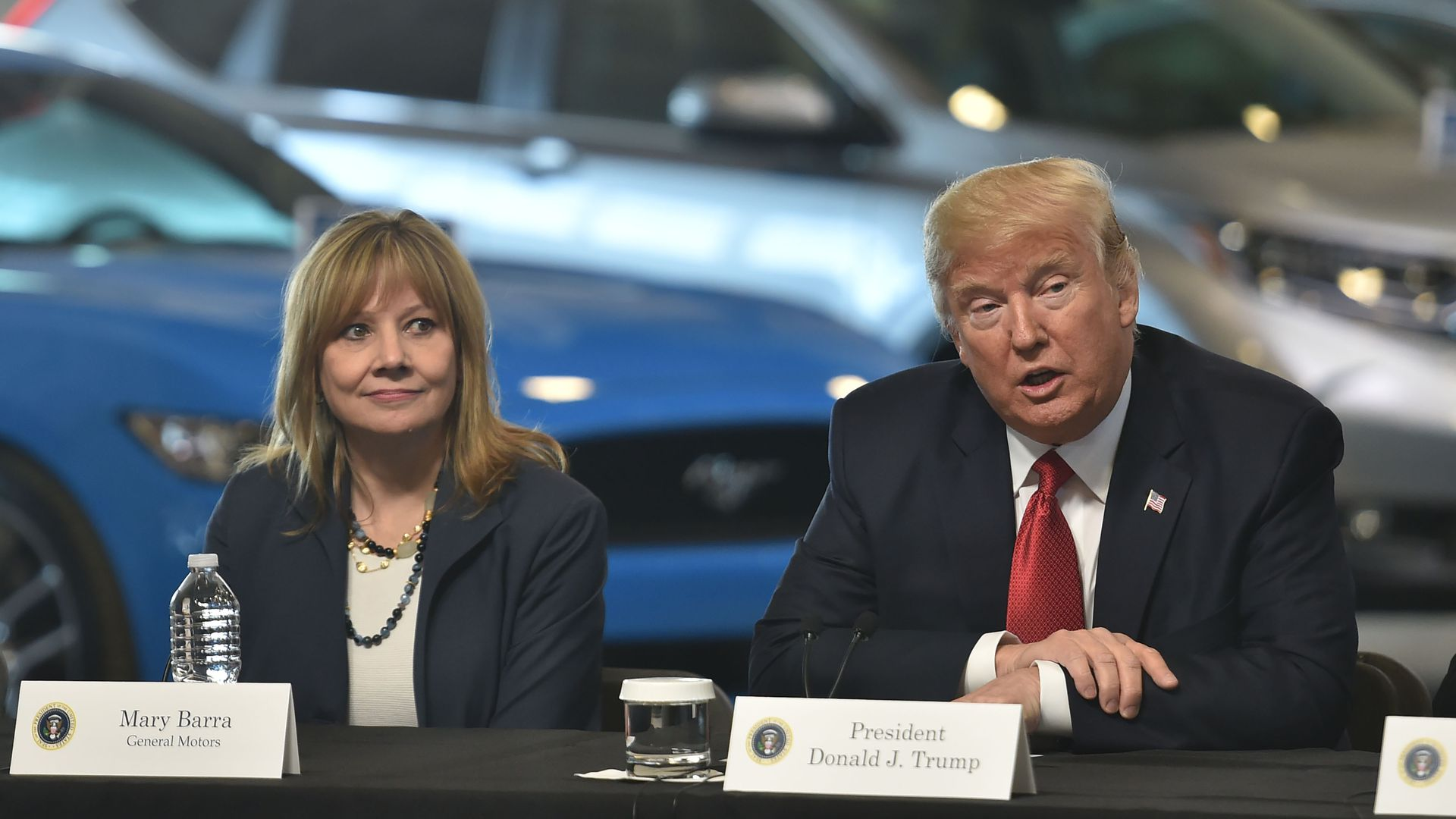 President Trump and GM CEO Mary Barra