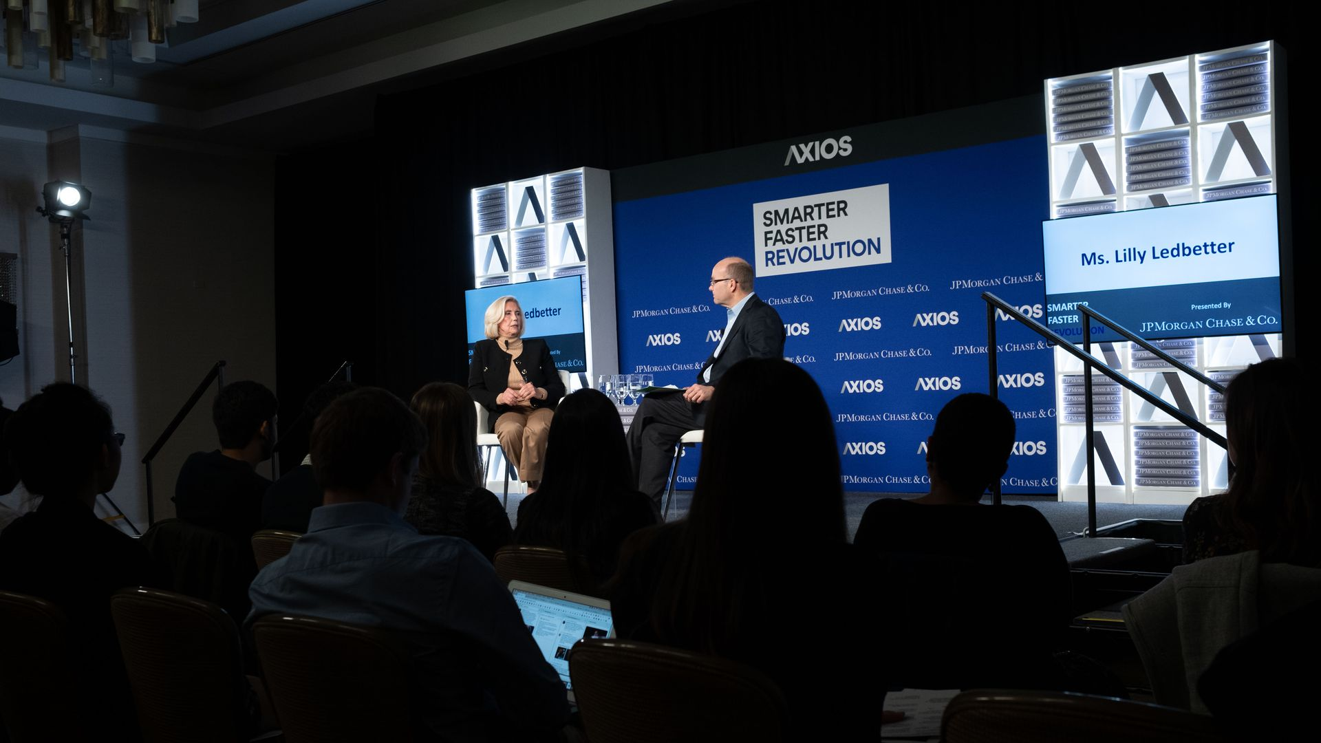 Activist Lilly Ledbetter and Axios' Mike Allen on the Axios stage