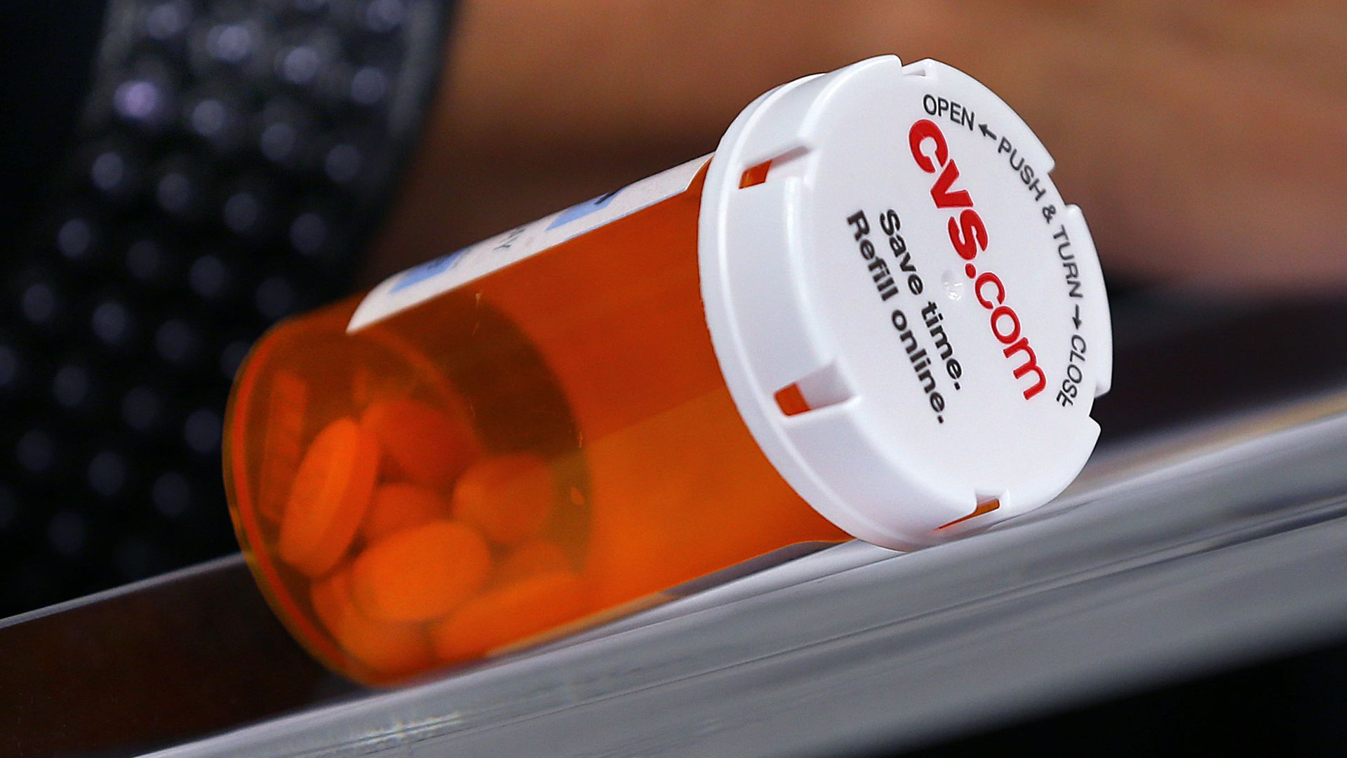 A prescription pill bottle from CVS