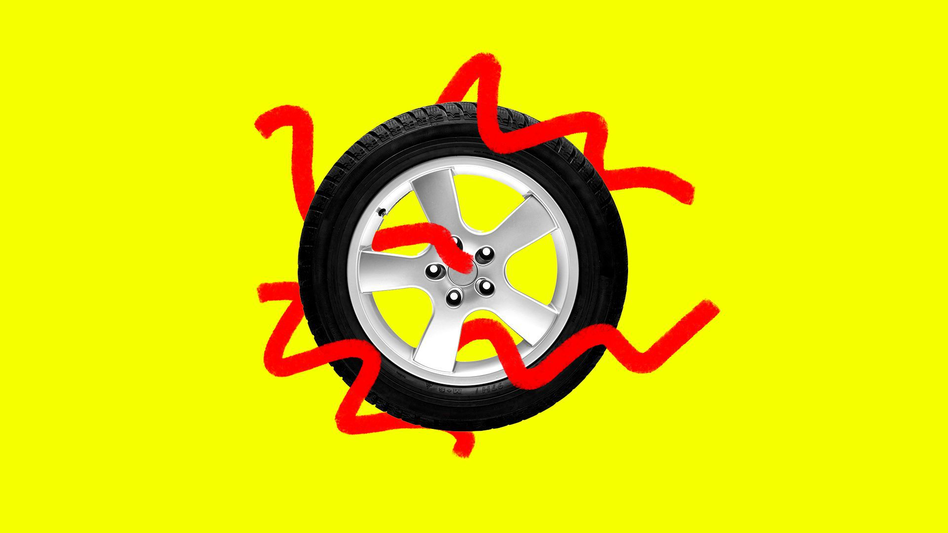 Illustration of a tire