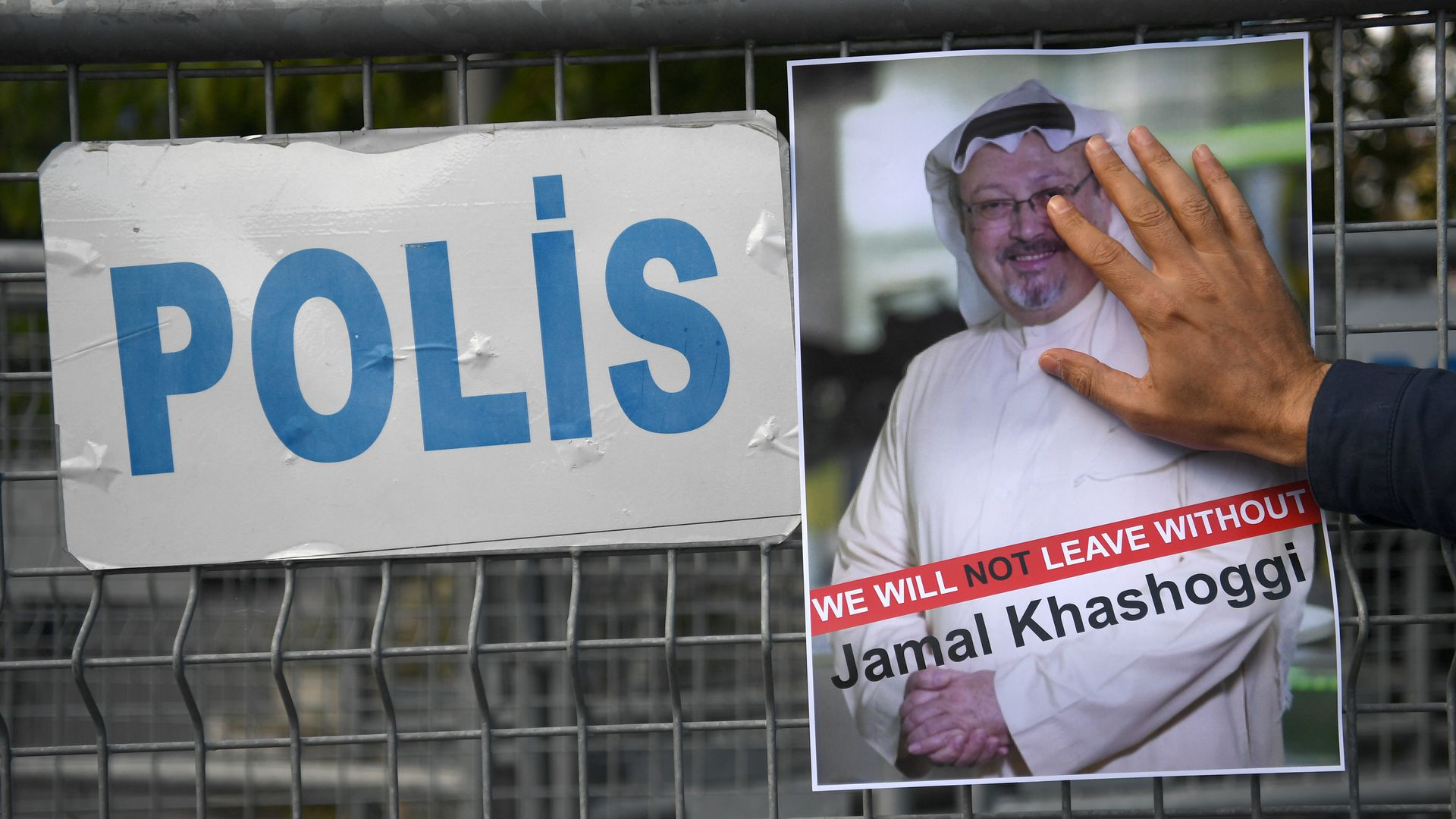 Missing poster of Jamal Khashoggi