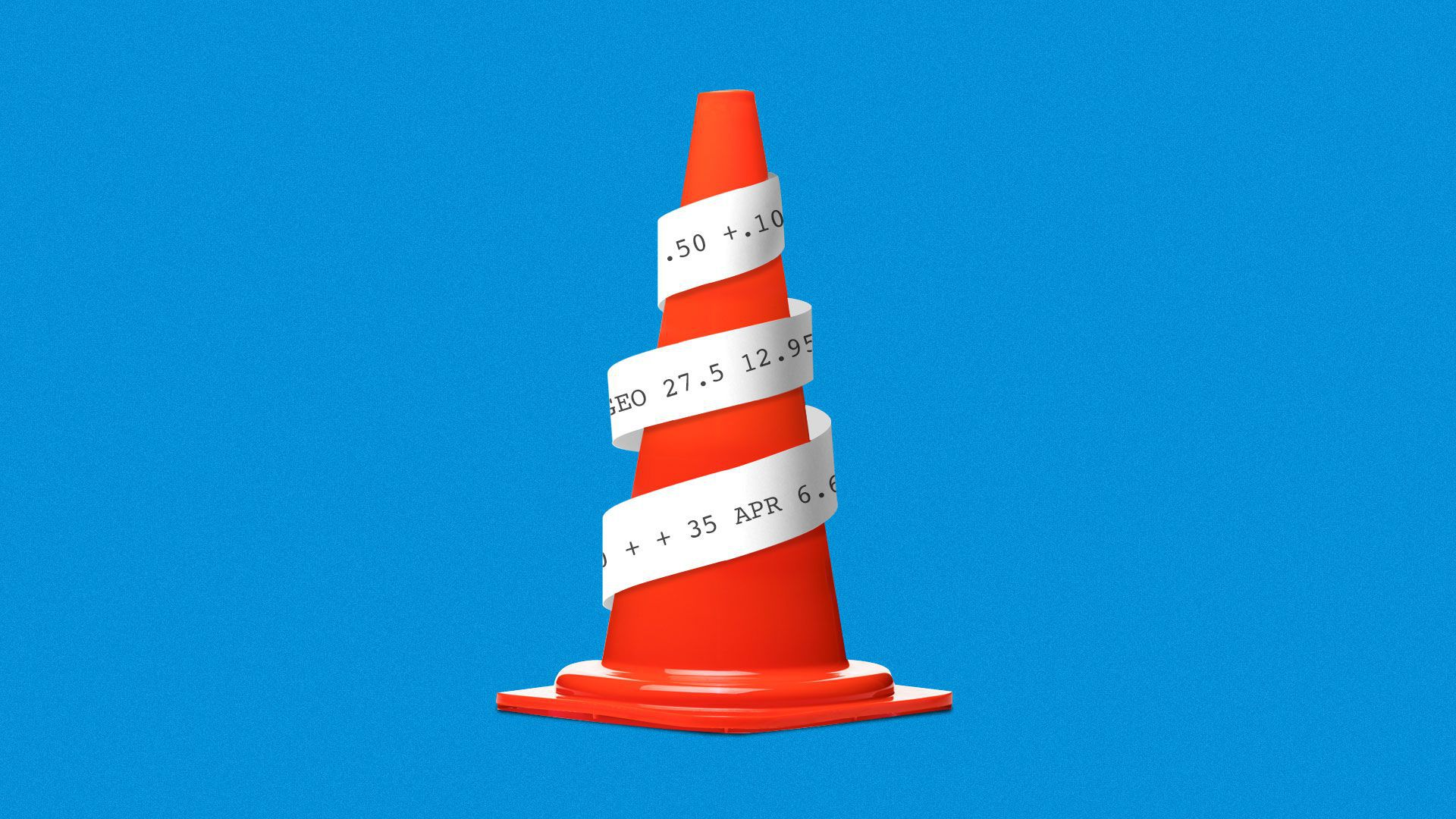 Illustration of a safety cone