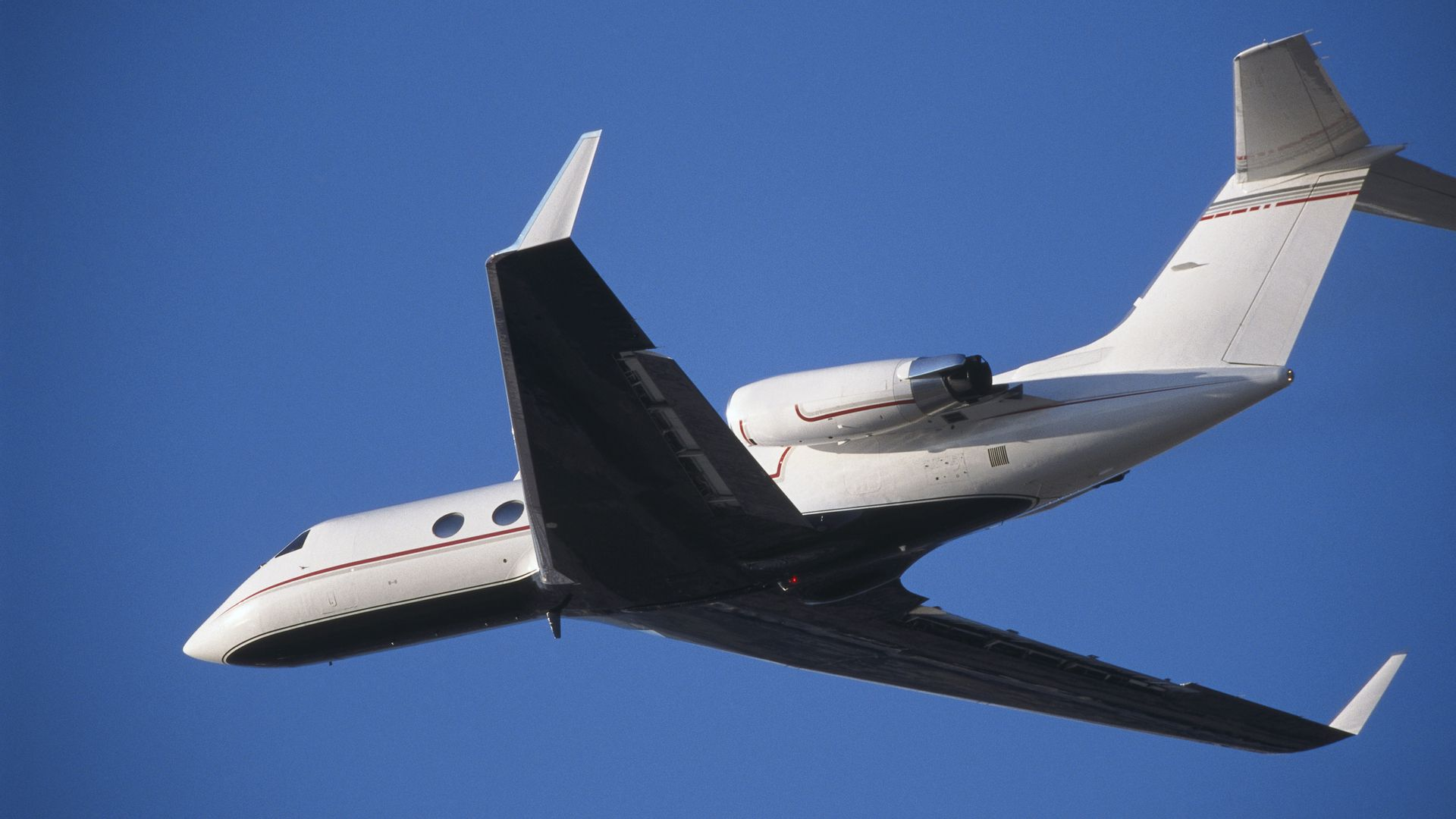 A private jet in flight