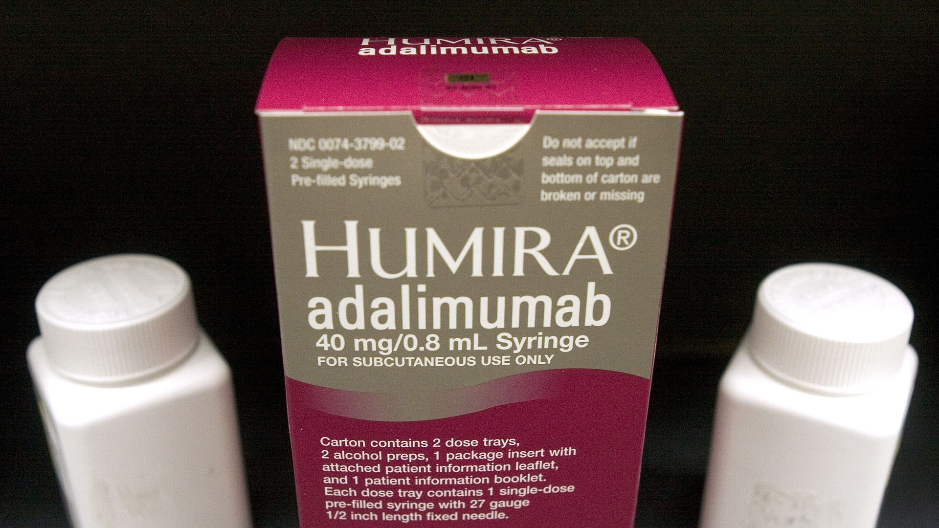 A package of the drug Humira.