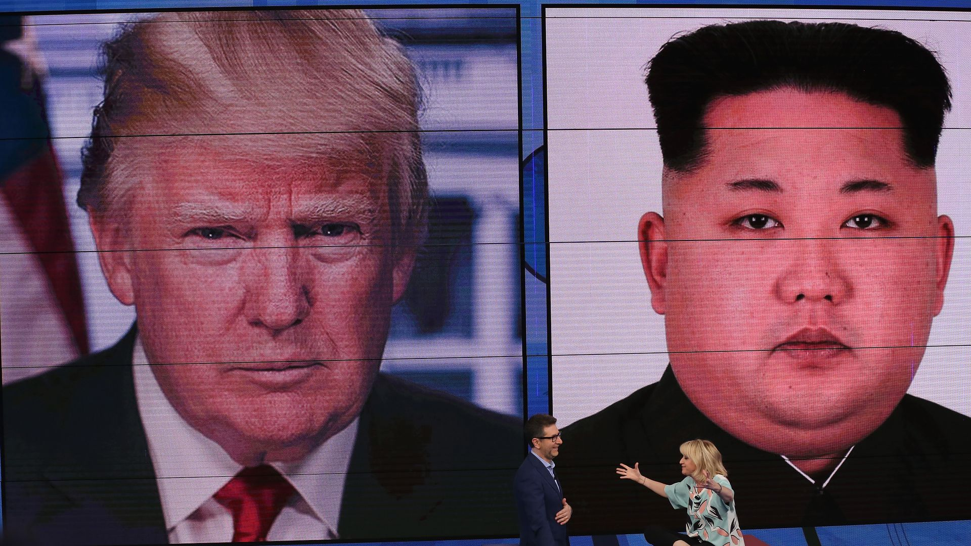 Donald Trump and Kim Jong-un.