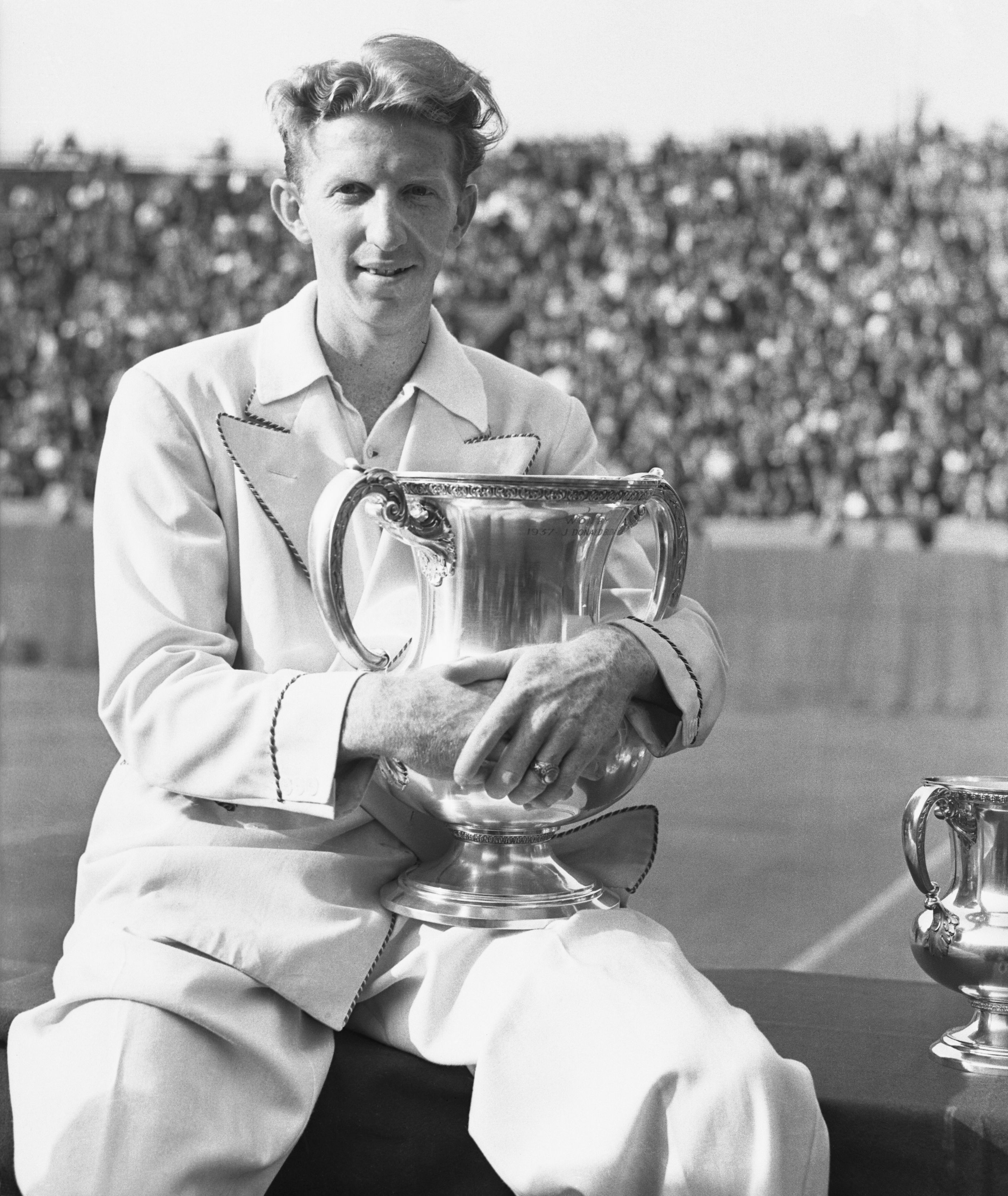 Don Budge after winning the U.S. Open