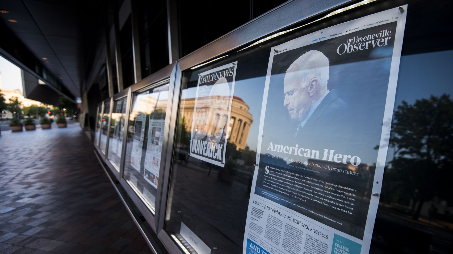 Newseum front pages display