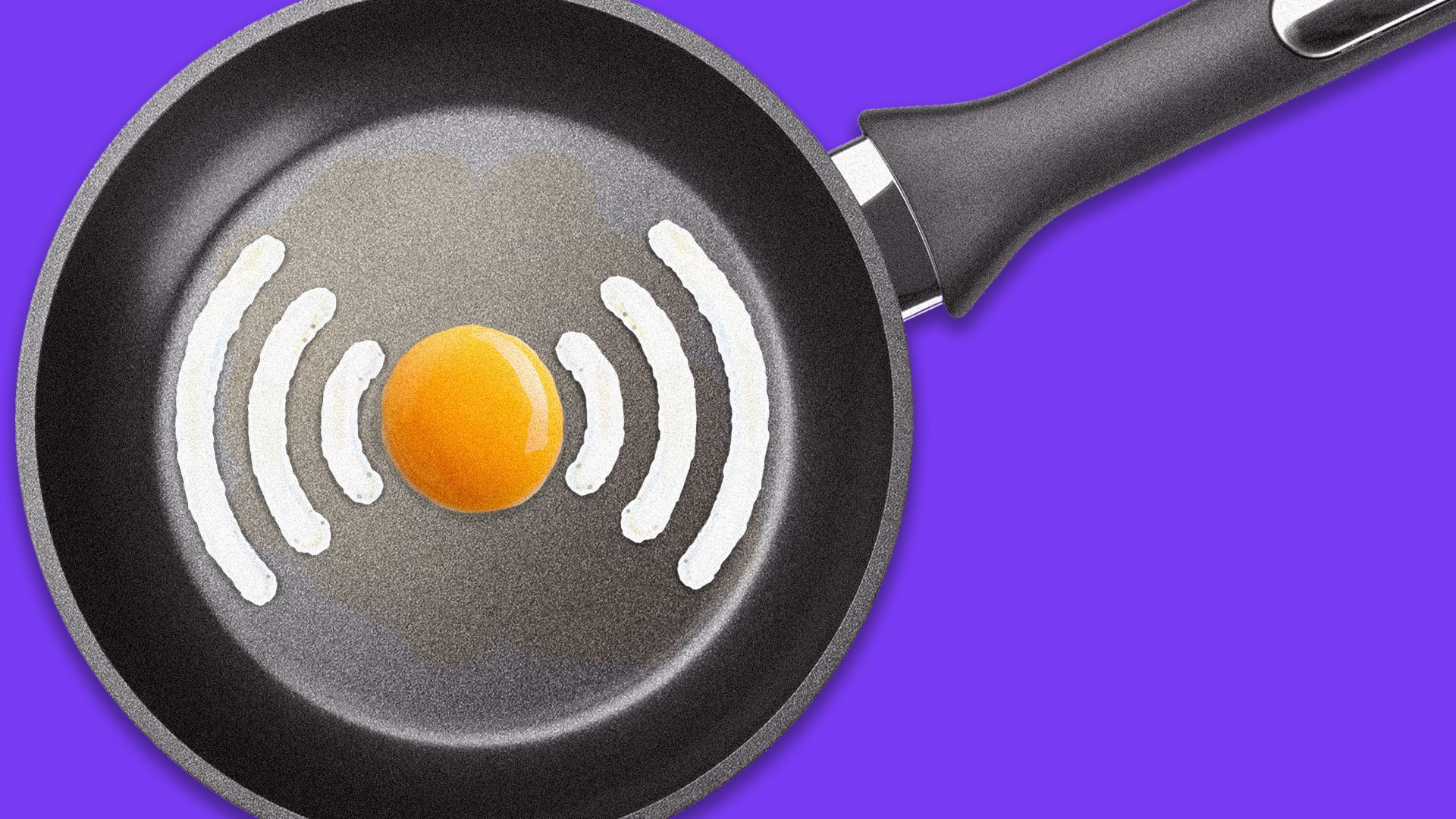 a 5g egg in a frying pan