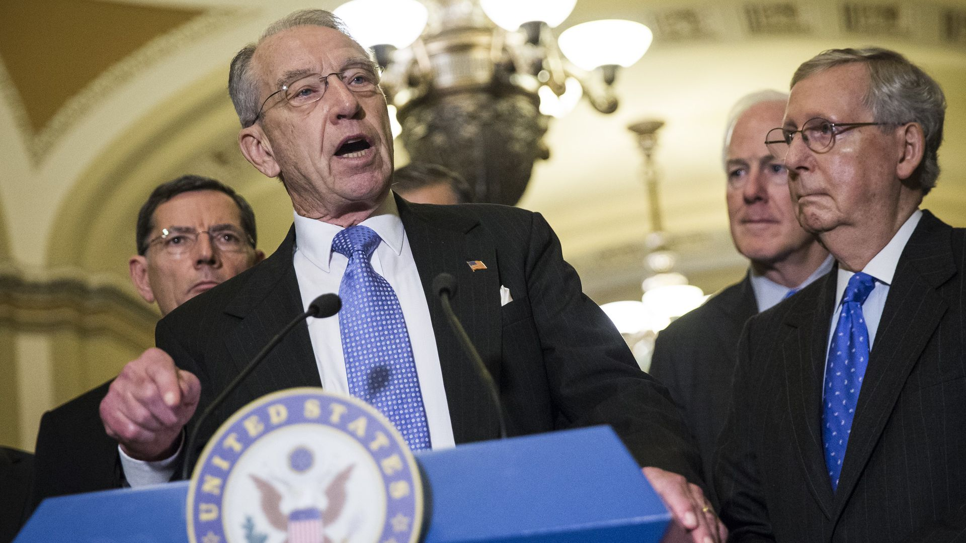 Senator Chuck Grassley (C), Chairman of the Senate Judiciary Committee. Photo: Samuel Corum/Anadolu Agency/Getty Images