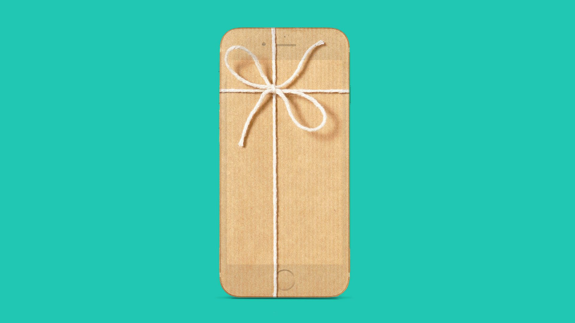 iphone as a gift illustration