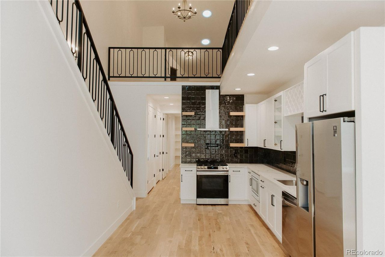 475 N Galapago St #5, kitchen view and stairs