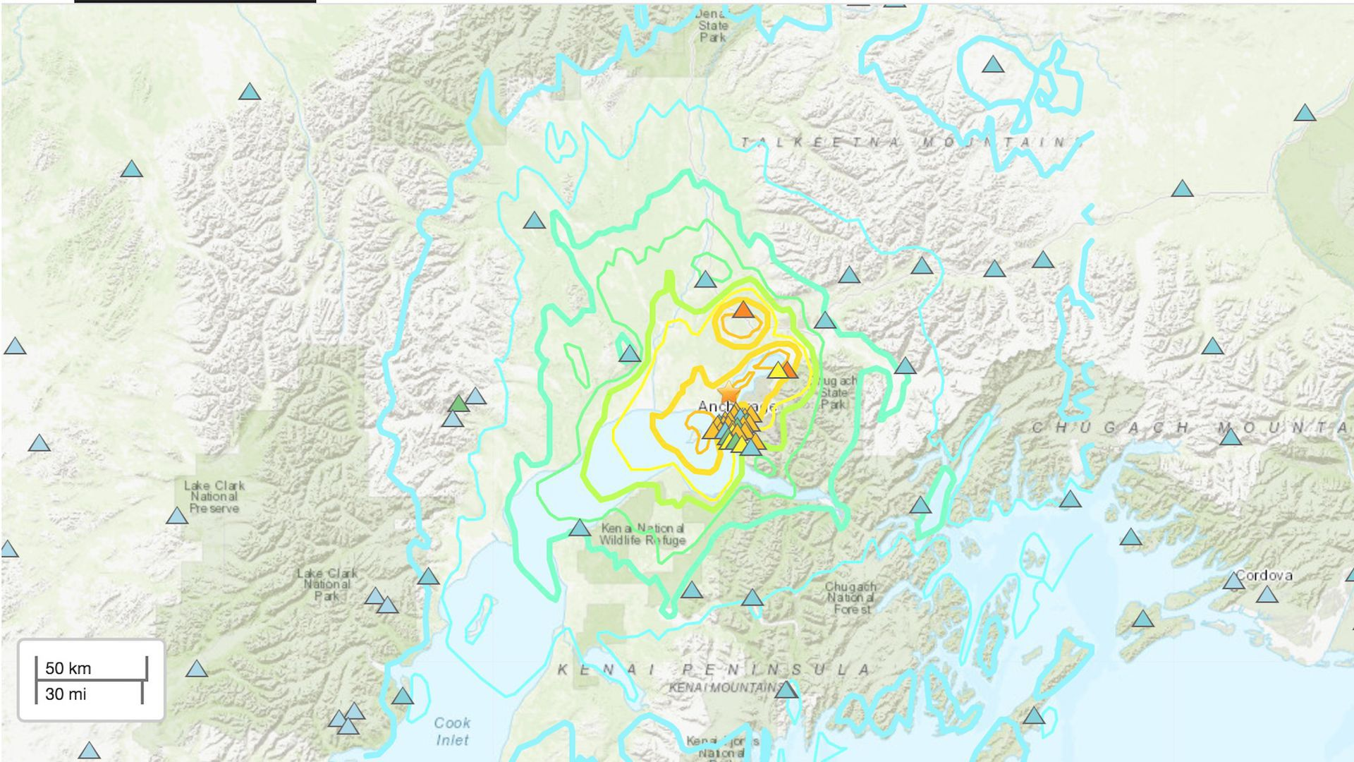 USGS shakemap