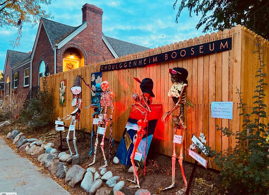 Congress Park Halloween decorations Denver 2021