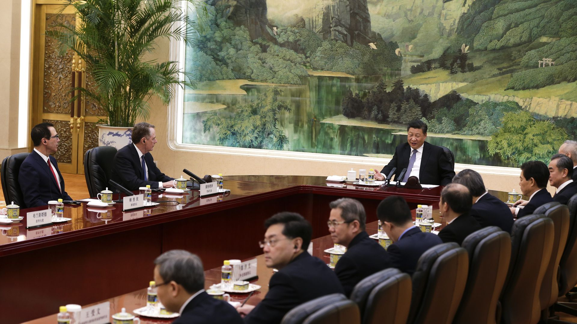 Photo from trade talks in Beijing with President Xi and USTR Lighthizer