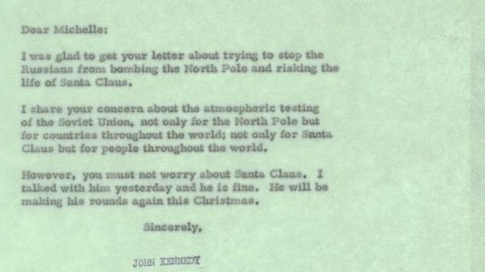 JFK letter