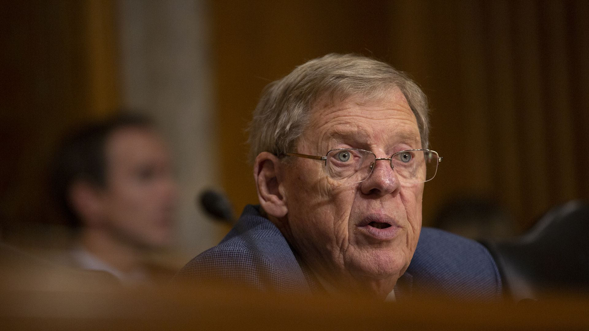 Sen. Johnny Isakson (R-GA) questions Kelly Craft, President Trump's nominee to be Representative to the United Nations, during her nomination hearing on June 19.