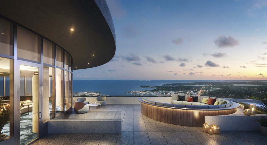 The Sky Lounge Observatory overlooking Tampa Bay.