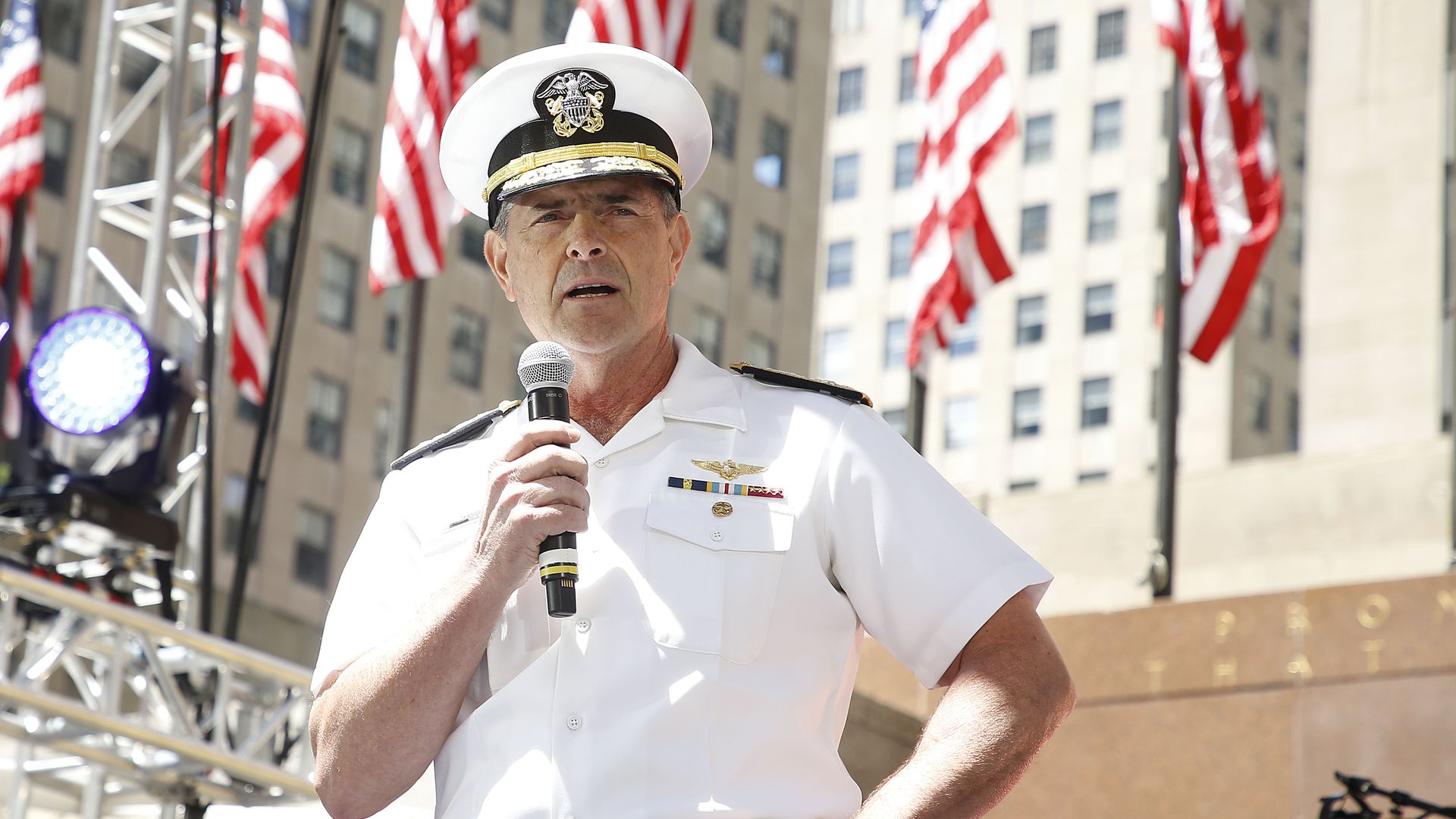 Admiral William Moran attends Side By Side: A Celebration Of Service on May 25.