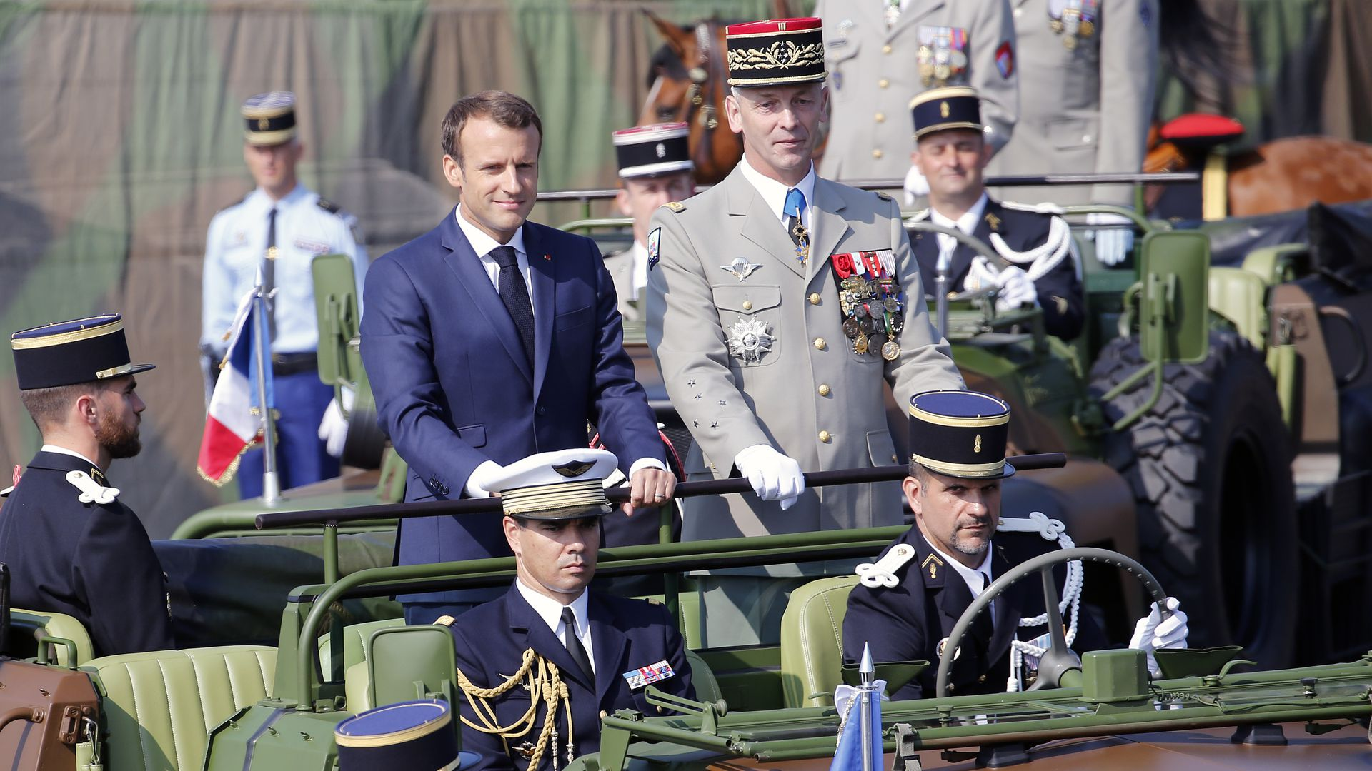 Emmanuel Macron and his chief of defense Francois Lecointre