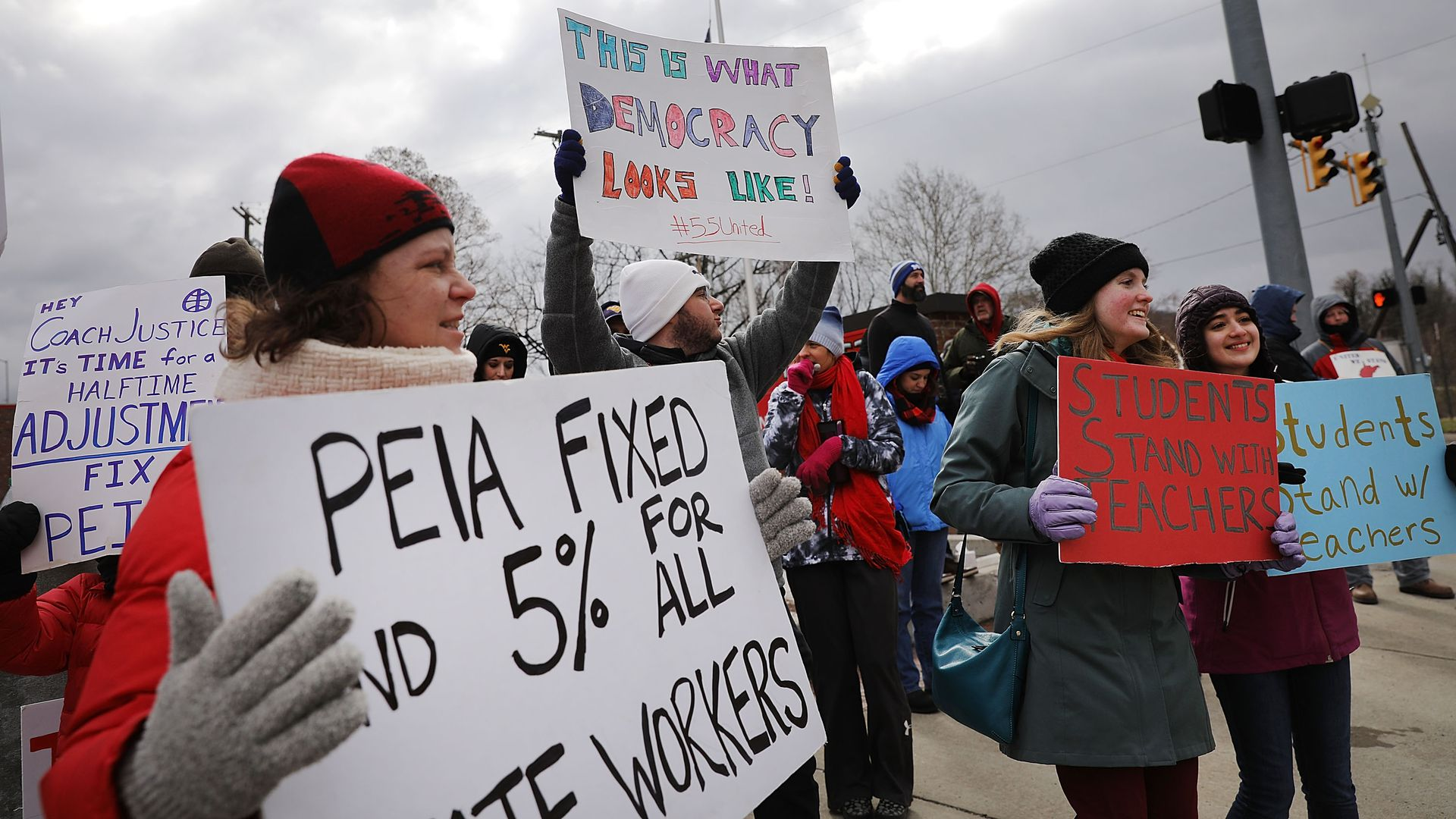 West Virginia teachers are going on strike again. Photo: Spencer Platt/Getty Images