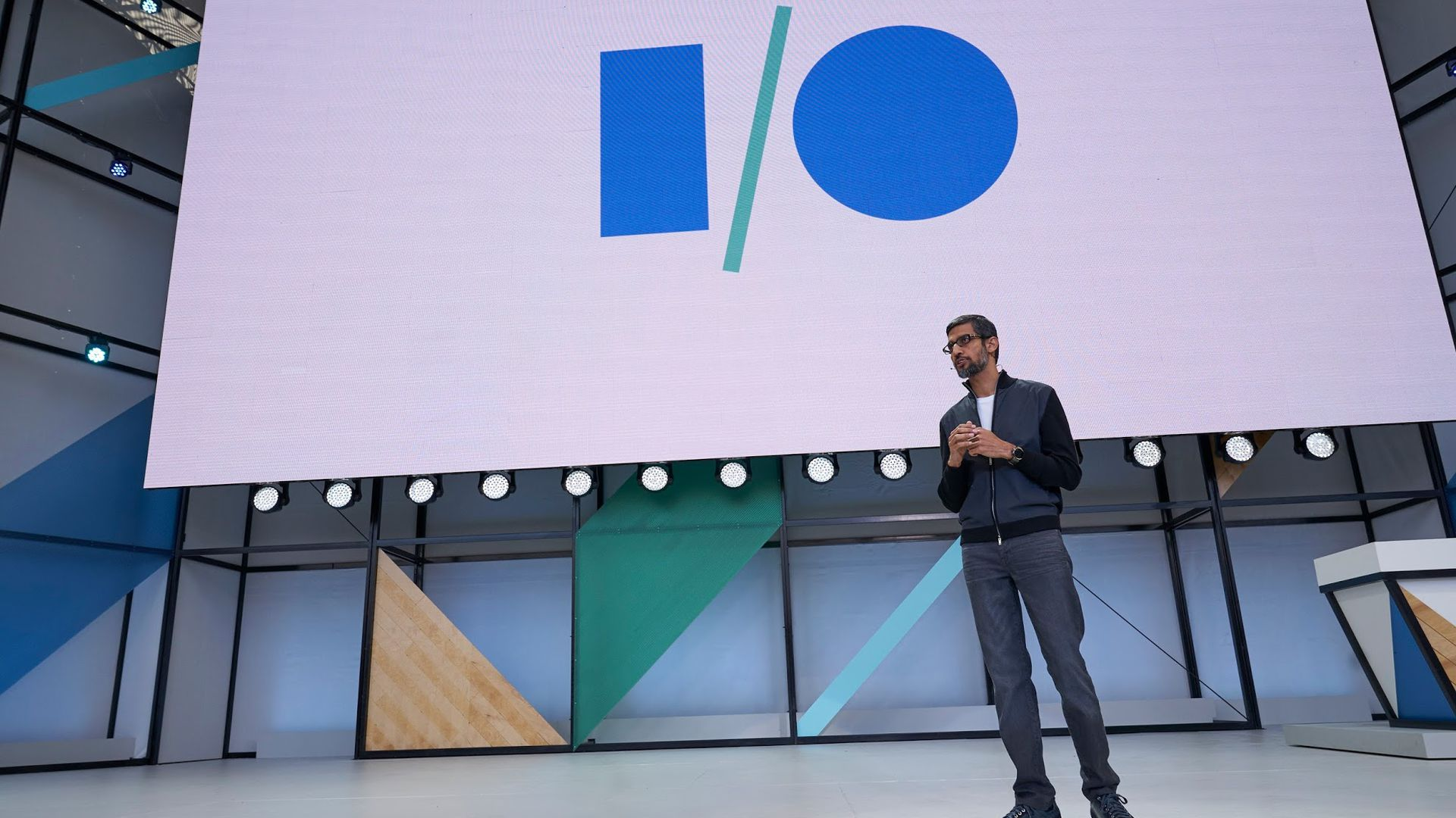 Google CEO Sundar Pichai, speaking at Google I/O 2017