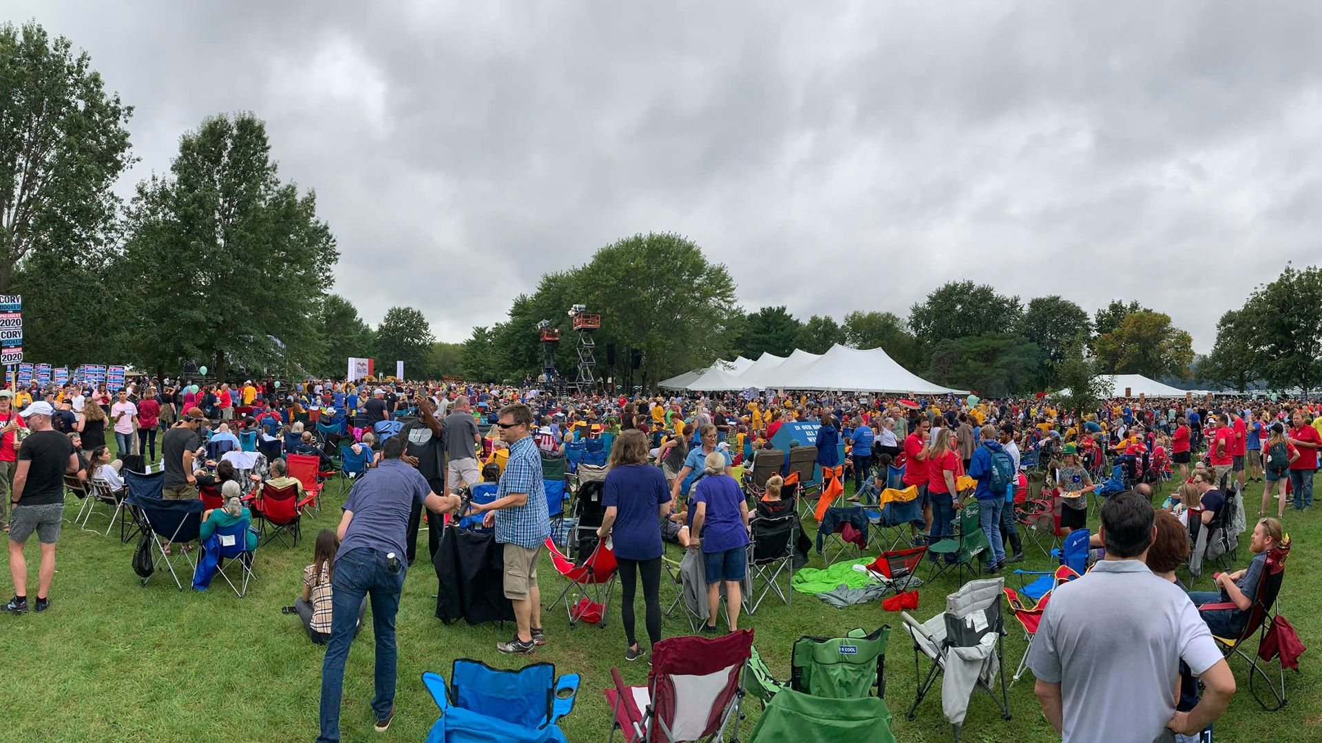 The crowd at the Polk County Democrats' Steak Fry in Des Moines, Iowa, Saturday.