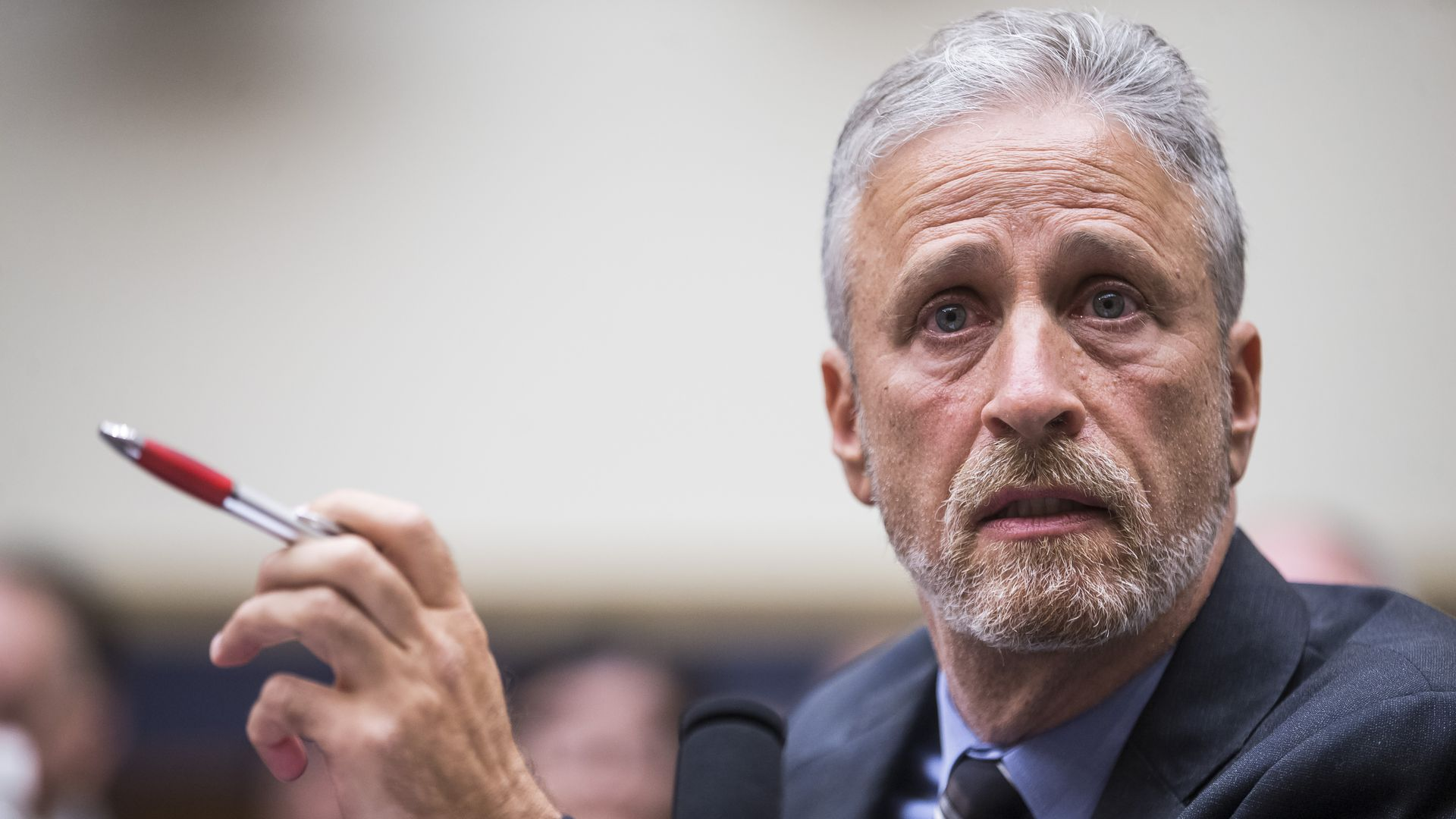 Former Daily Show Host Jon Stewart testifies during a House Judiciary Committee.