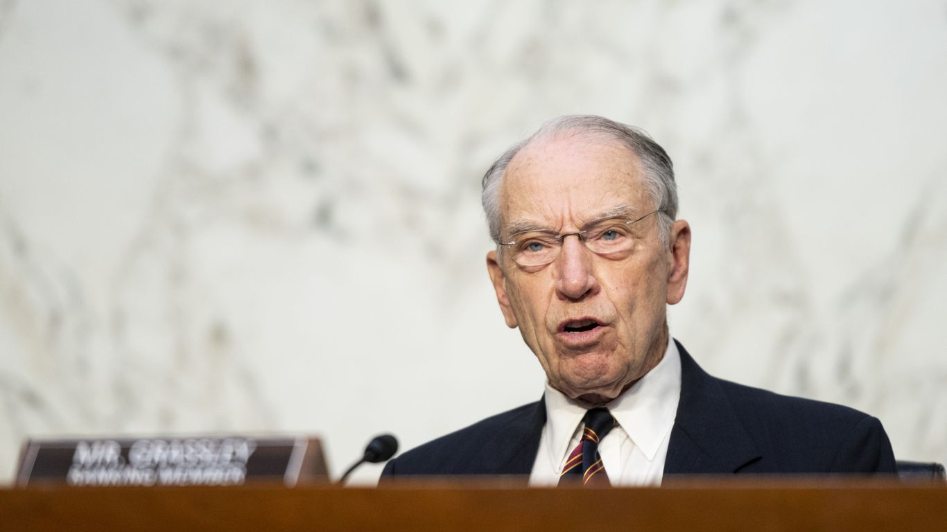 Grassley wants more information about John Kerry's finances, potential conflicts of interest thumbnail
