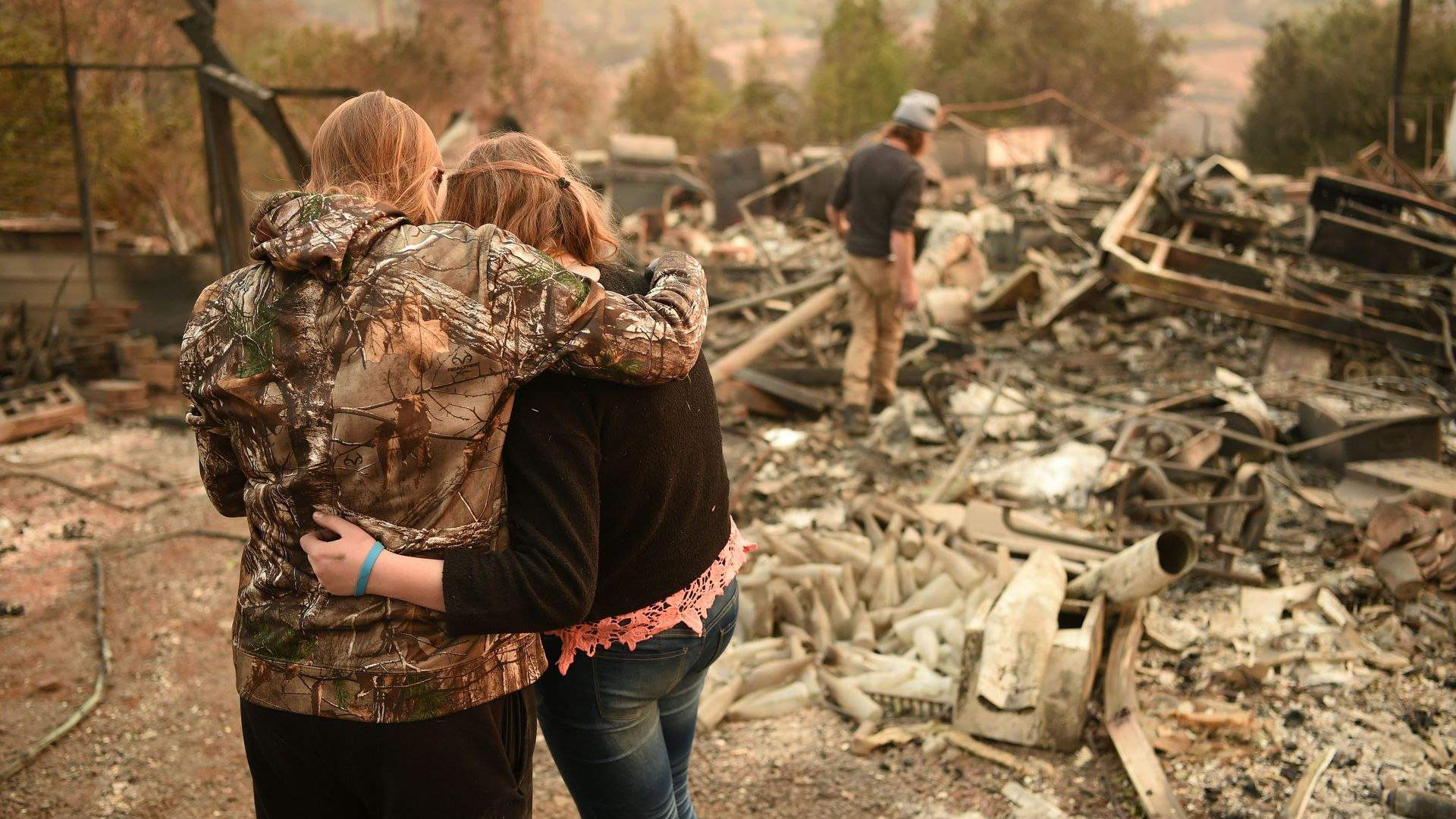 Victims of the Camp Fire in Paradise, California last November.