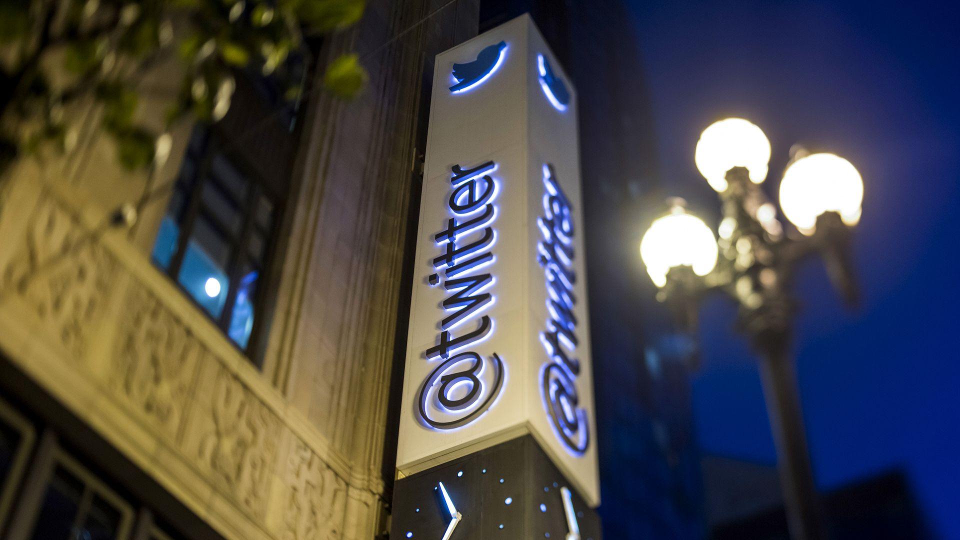 Twitter signage