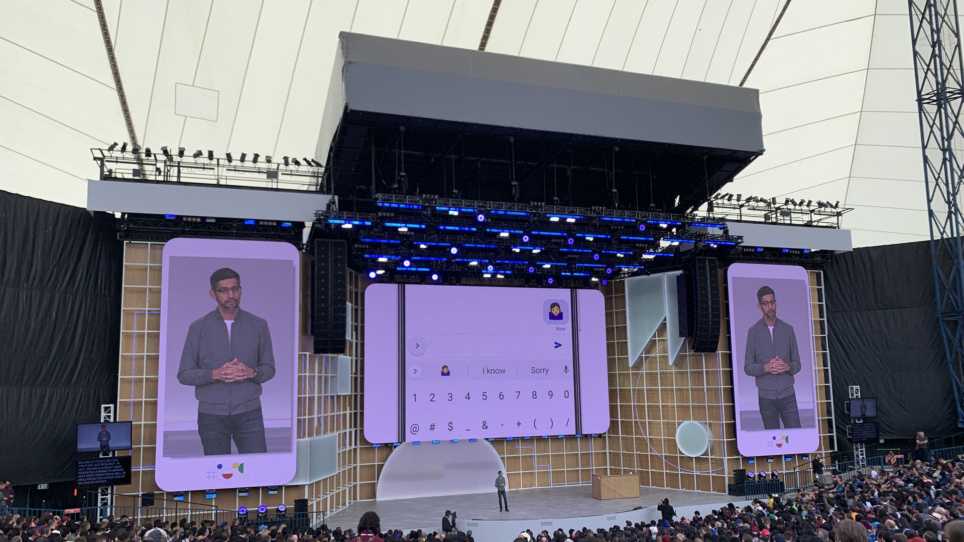 Google CEO Sundar Pichai, talking about new privacy moves at I/0 2019