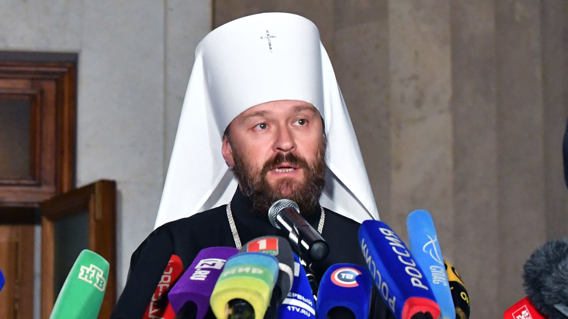 Metropolitan Hilarian, chairman of the Department for External Church Relations of the Moscow Patriarchate. Photo: Viktor Drachev\TASS via Getty Images