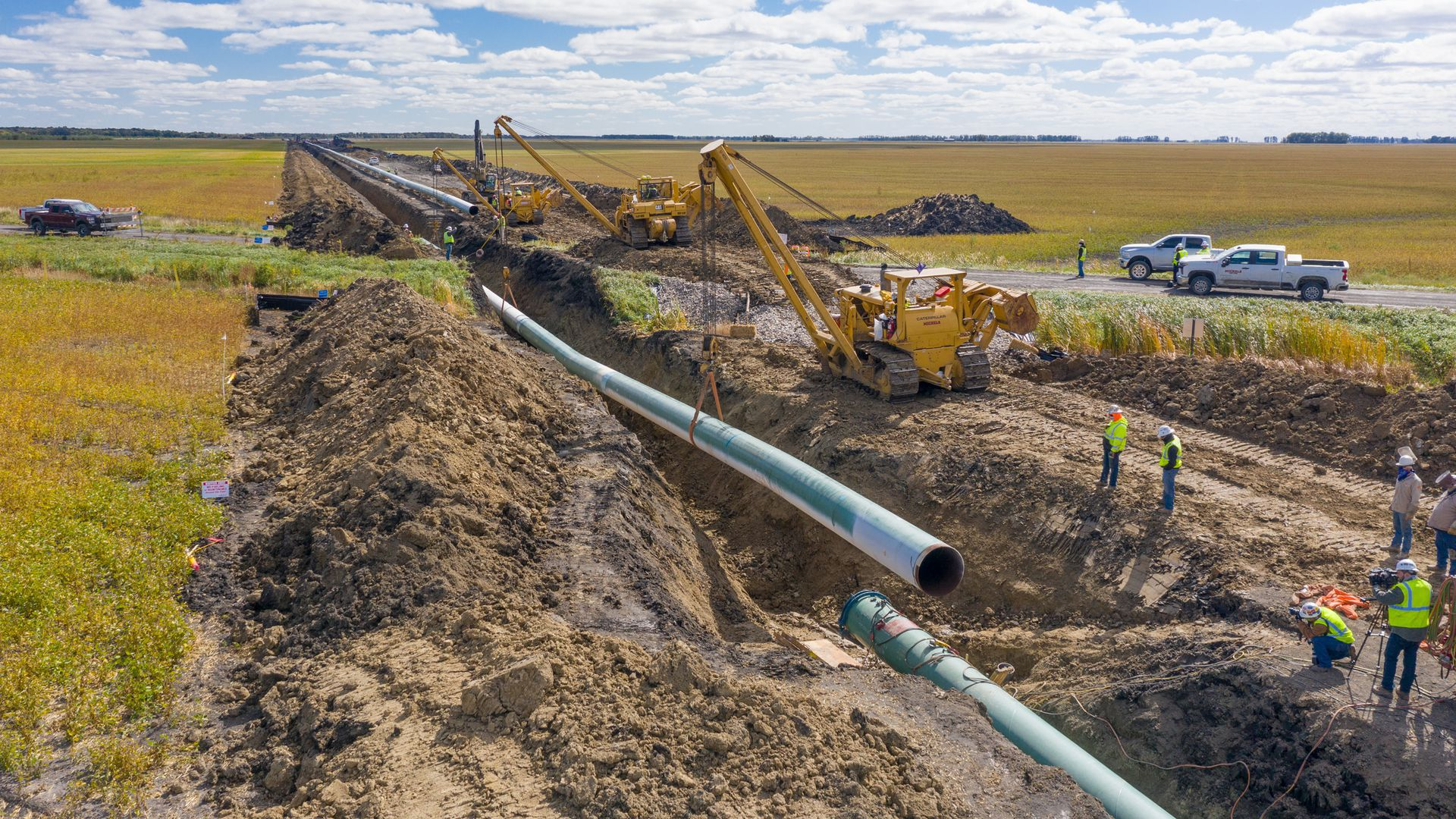 Construction on the Enbridge Line 3 replacement in northern Minnesota.