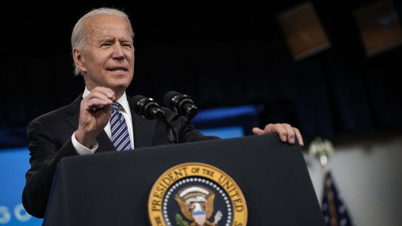 """Biden warns gas stations not to price gouge: """"That's not who we are"""" thumbnail"""