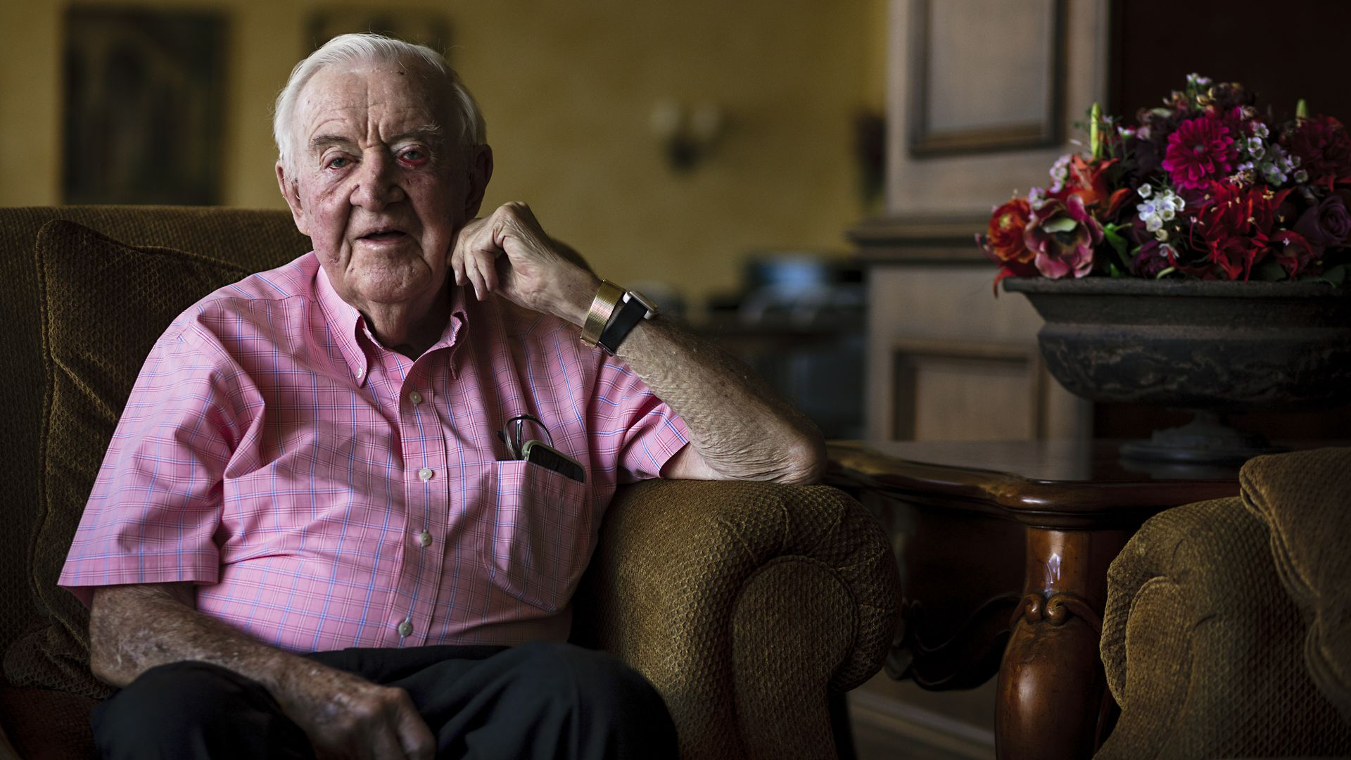 Former Associate Justice of the Supreme Court of the United States John Paul Stevens, 99, sits for a portrait on Thursday, May 9, 2019 in Fort Lauderdale, FL.