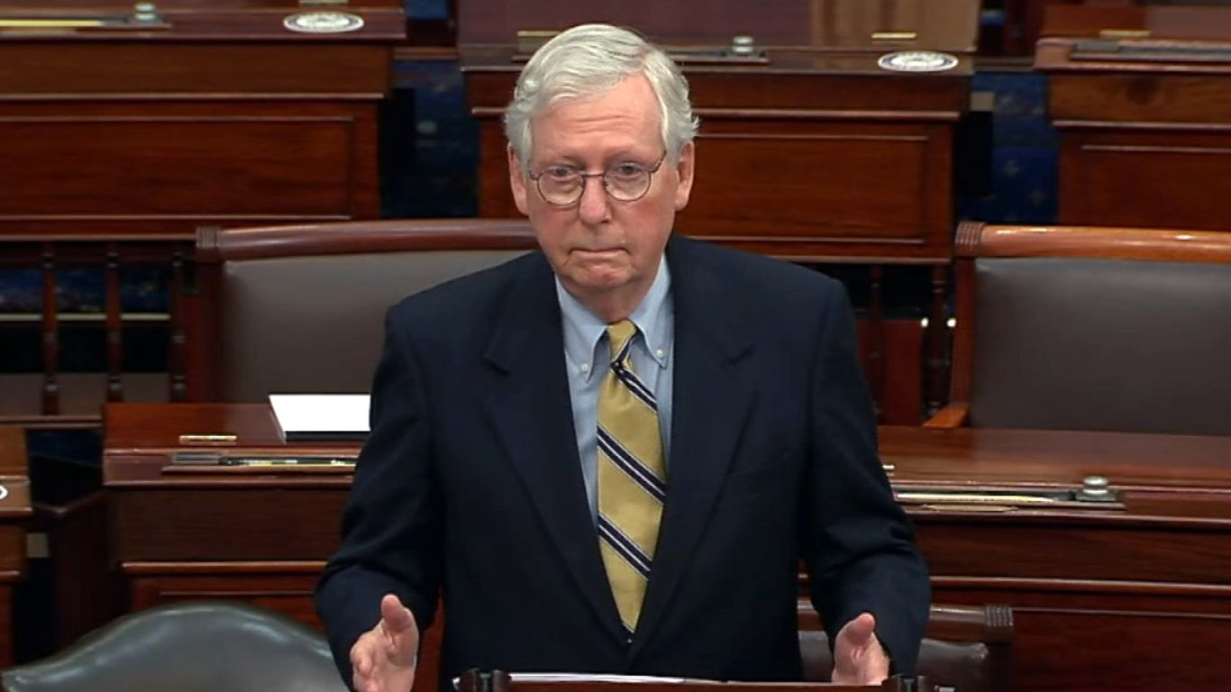 McConnell votes to acquit, then condemns Trump for Capitol siege