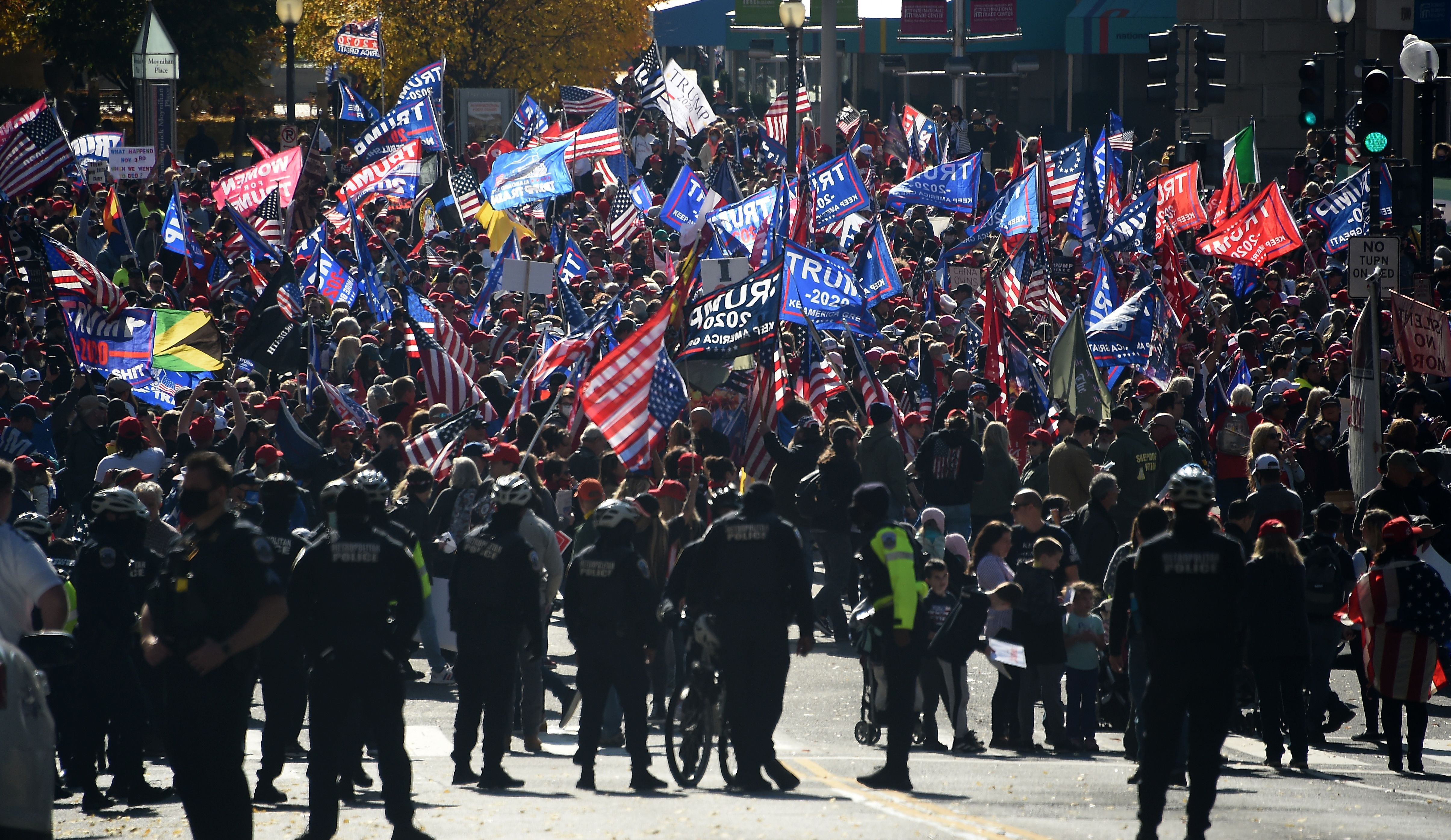 Trump supporters gathered in Washington, DC, on Nov. 14.