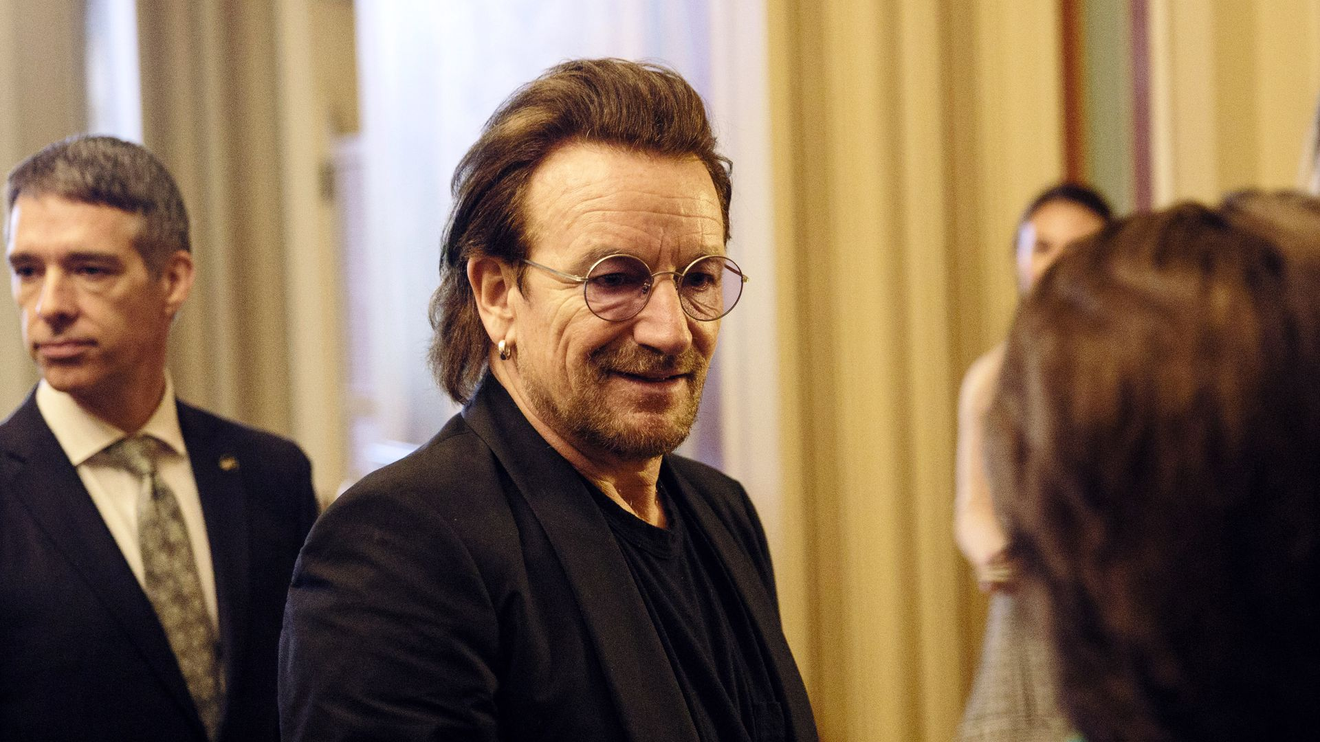 U2 frontman Bono at Capitol Hill