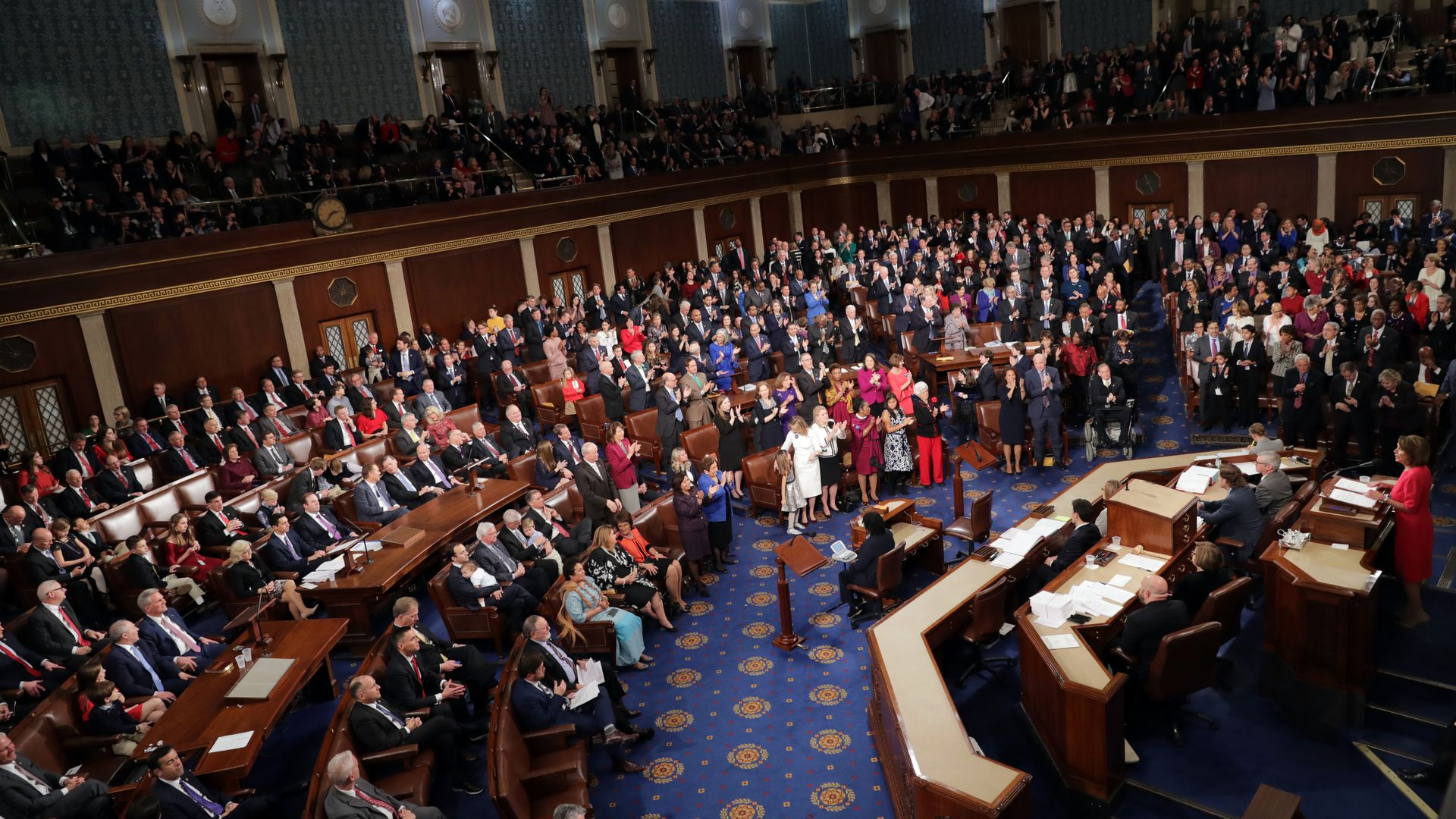 Congressional members during the first session of the 116th Congress Thursday.