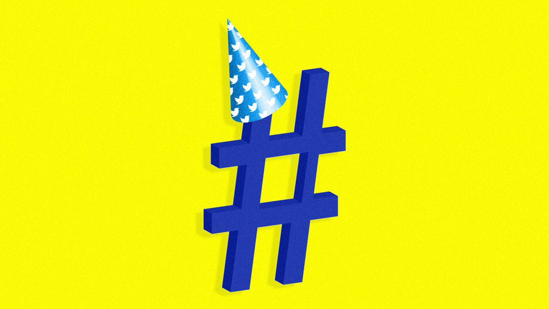The Twitter hashtag is 10