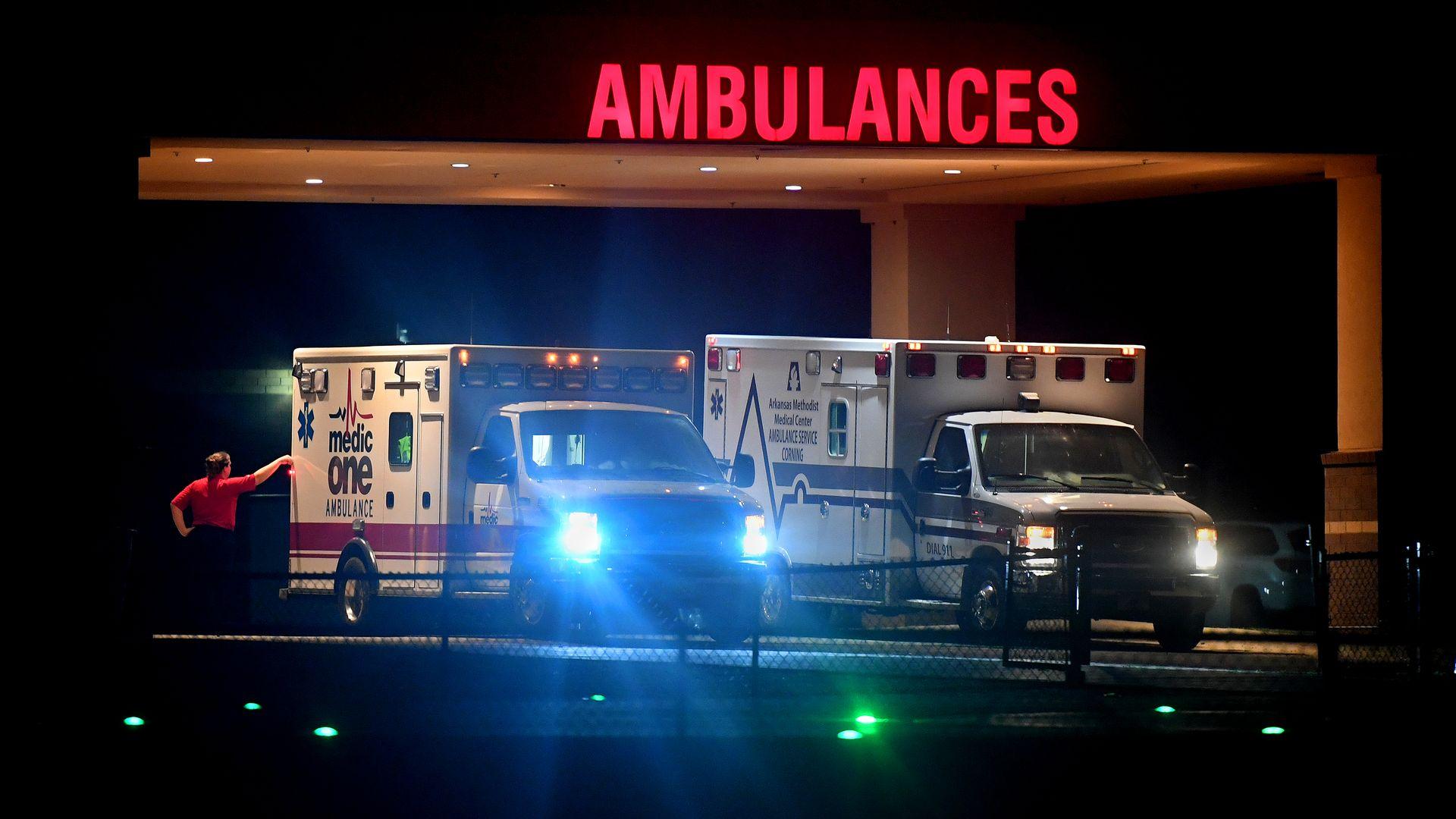 Ambulances in southeast Missouri.