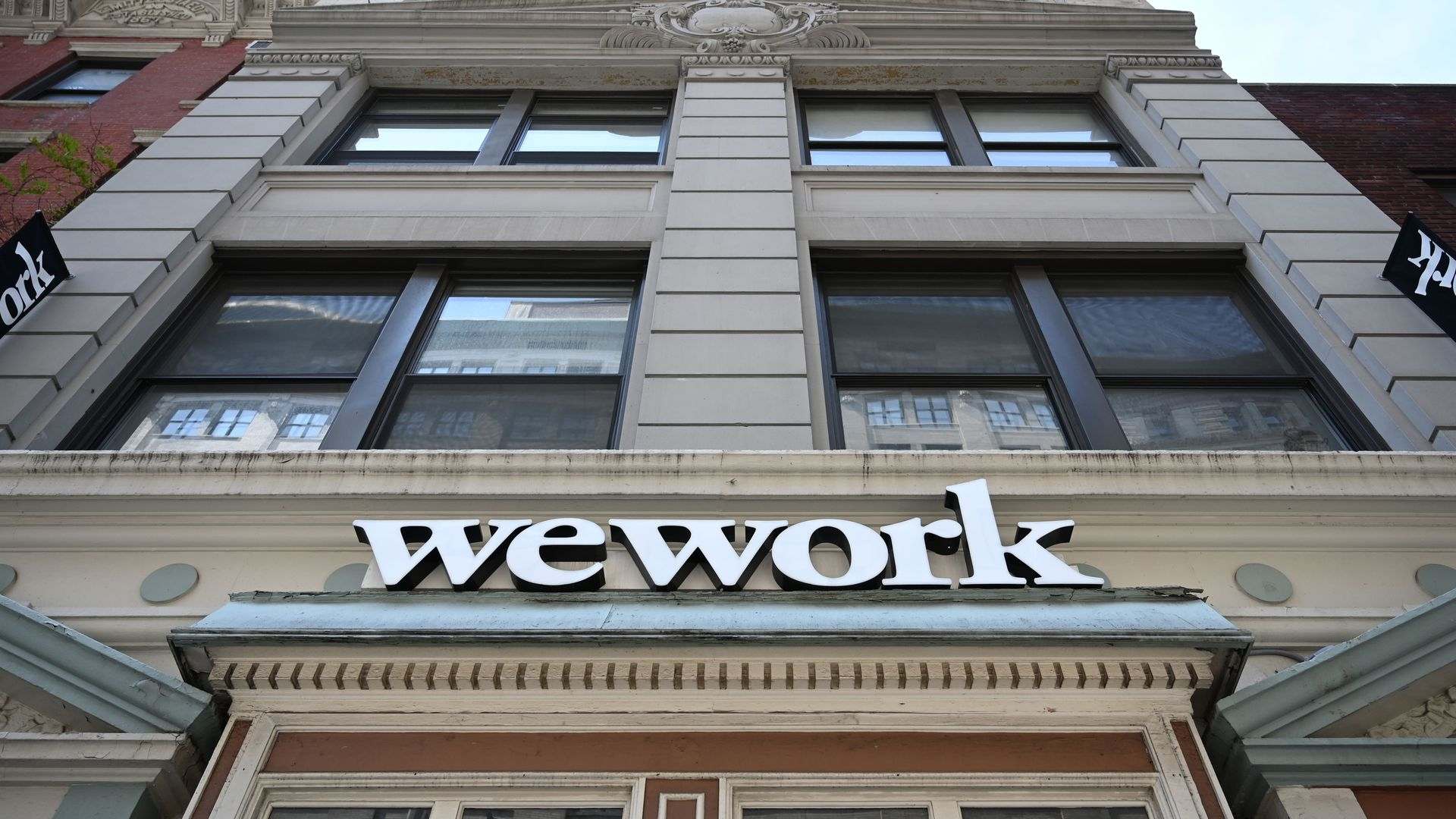 Photo of a facade of a WeWork building in New York