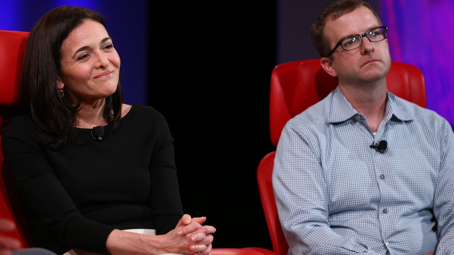 Facebook COO Sheryl Sandberg and CTO Mike Schroepfer