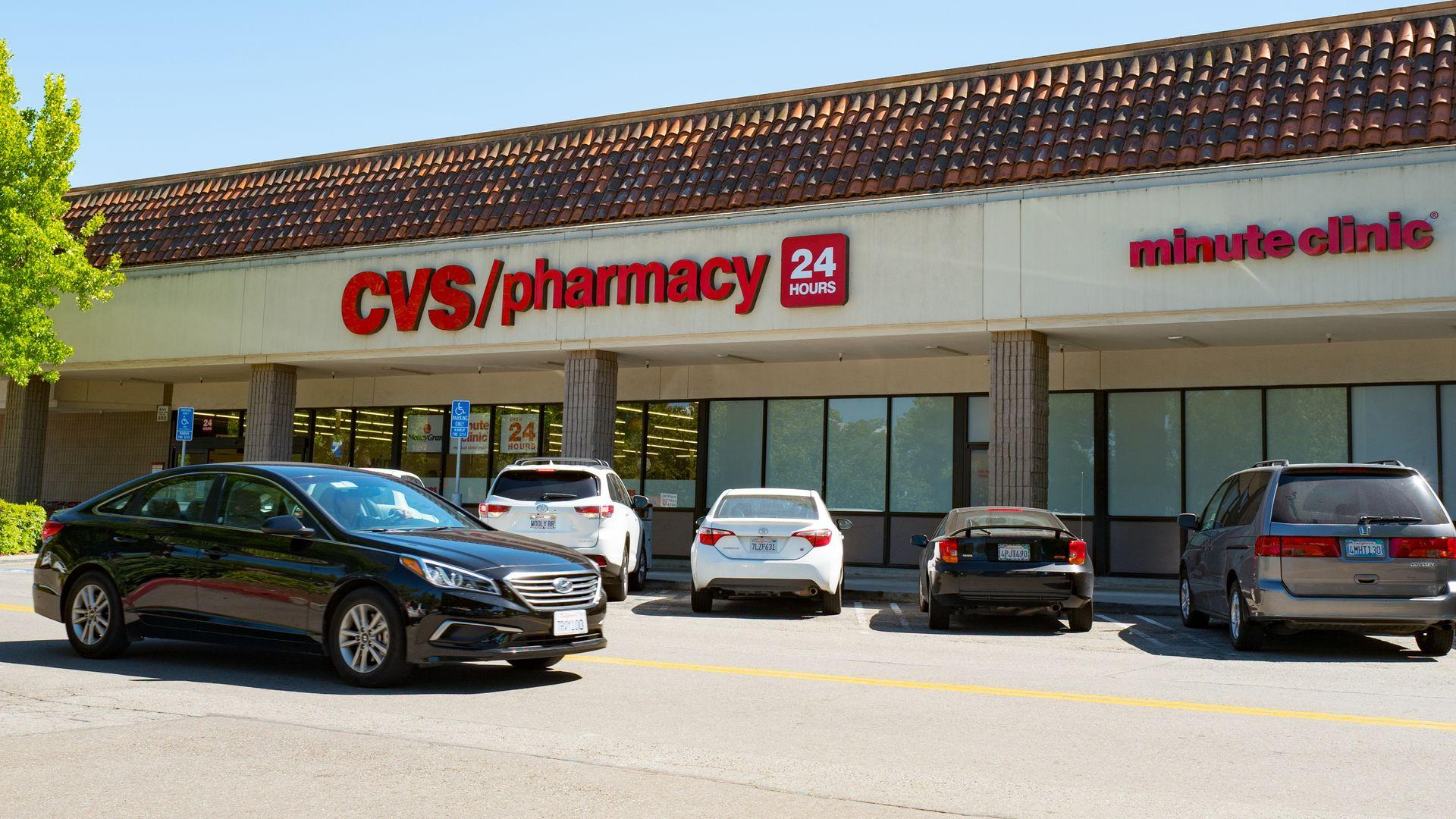 CVS Pharmacy on a sunny day in San Ramon, California