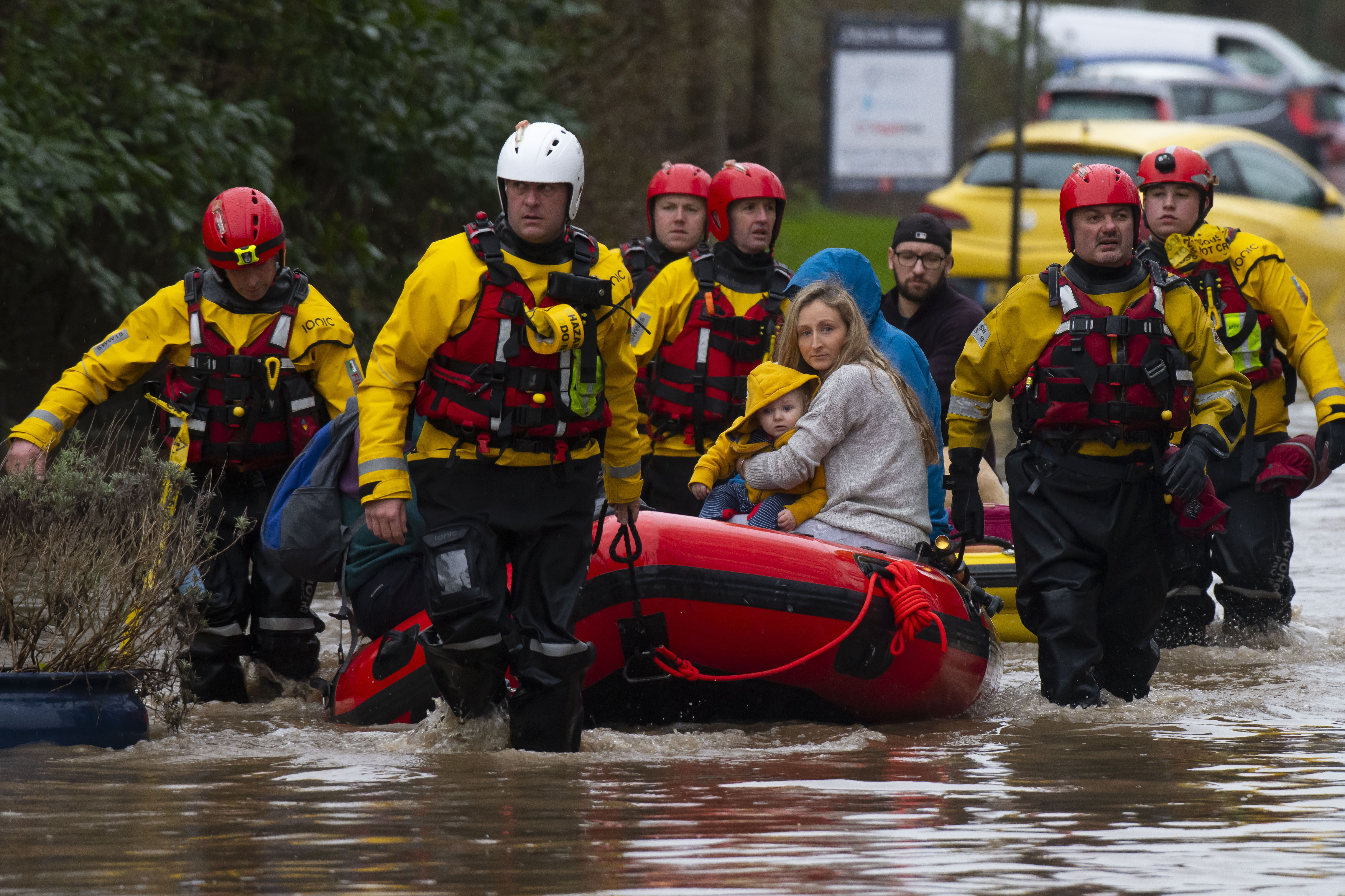 In photos: Deadly Storm Dennis lashes U.K., Ireland and western France - Axios